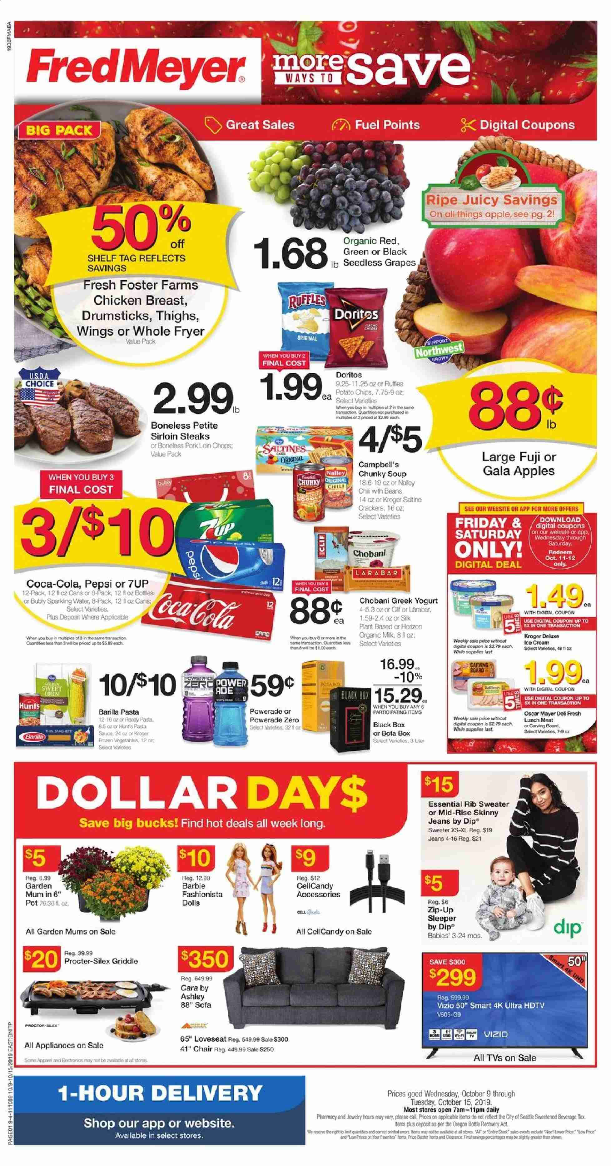 Fred Meyer Flyer  - 10.09.2019 - 10.15.2019. Page 1.