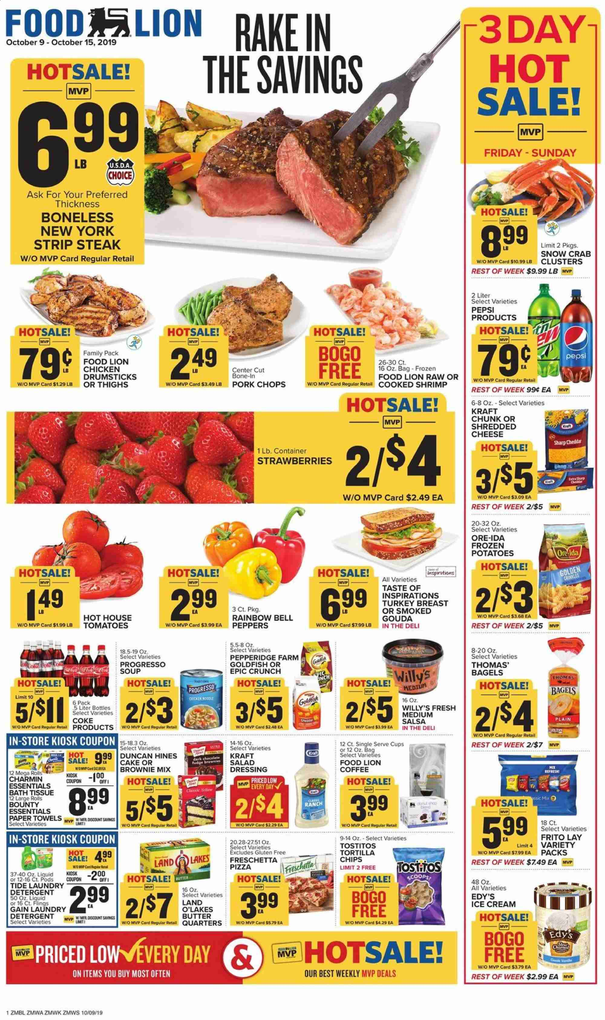 Food Lion Flyer  - 10.09.2019 - 10.15.2019. Page 1.