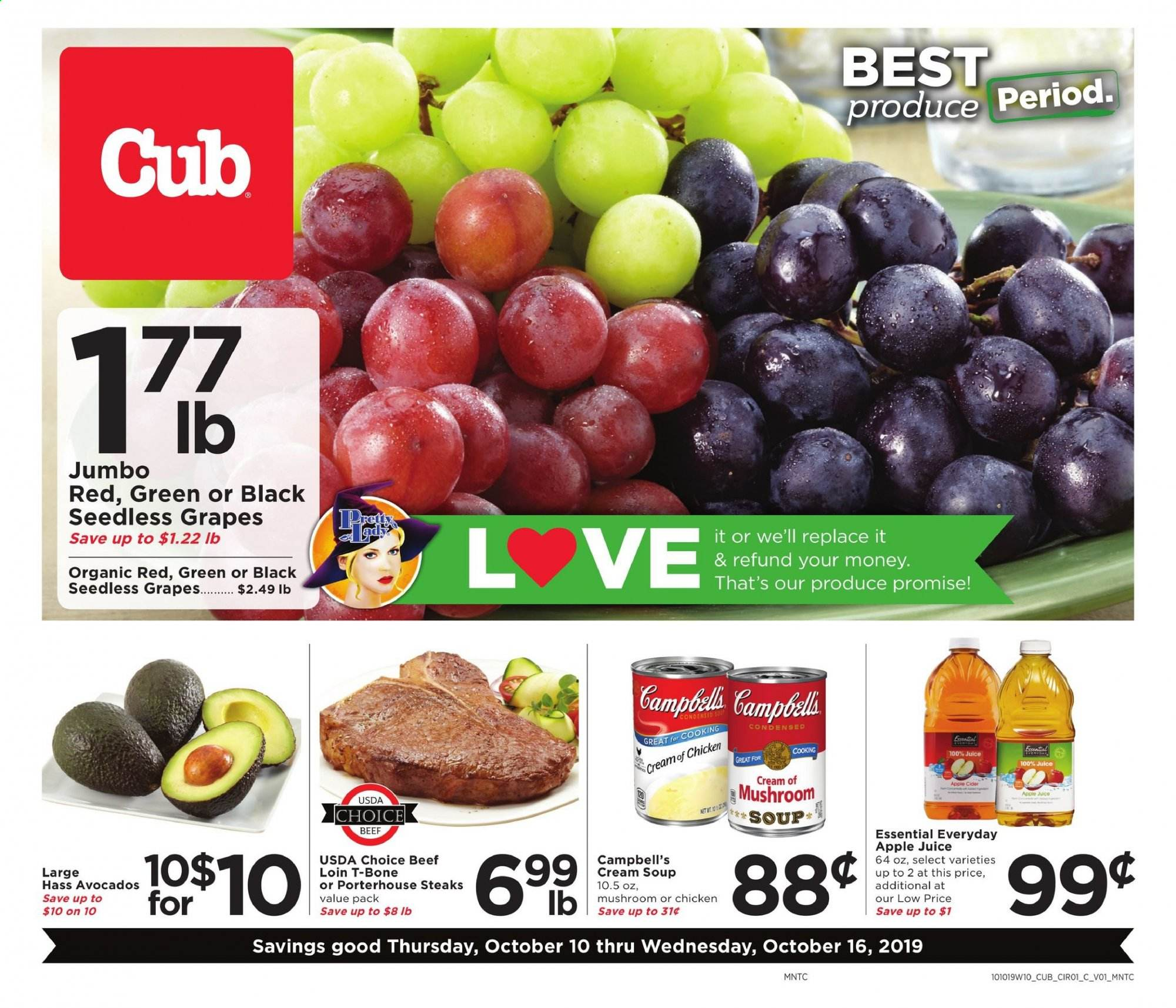 Cub Foods Flyer  - 10.10.2019 - 10.16.2019. Page 1.