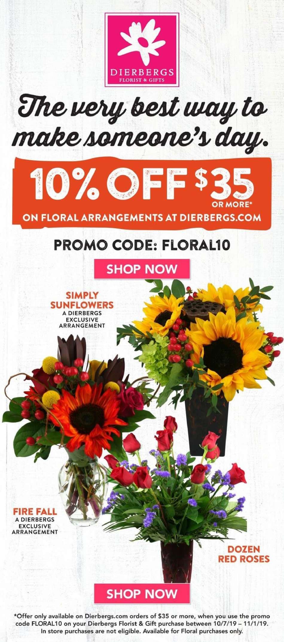 coupons for dierbergs florist