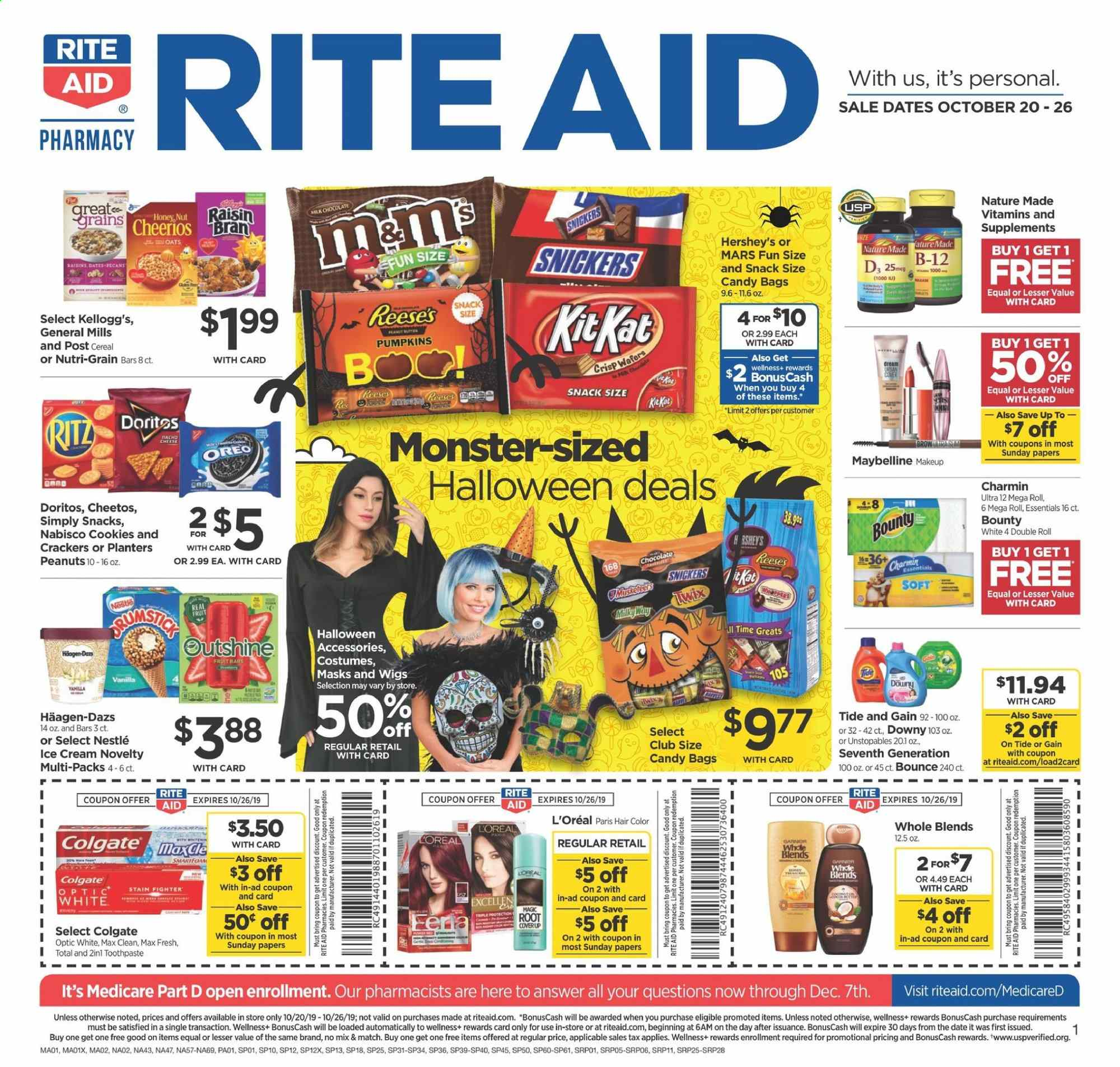 RITE AID Flyer  - 10.20.2019 - 10.26.2019. Page 1.