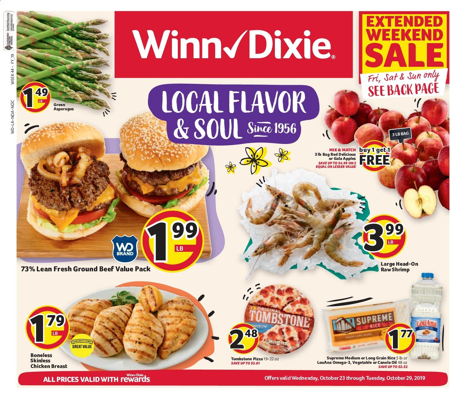 Winn Dixie Flyer  - 10.23.2019 - 10.29.2019. Page 1.