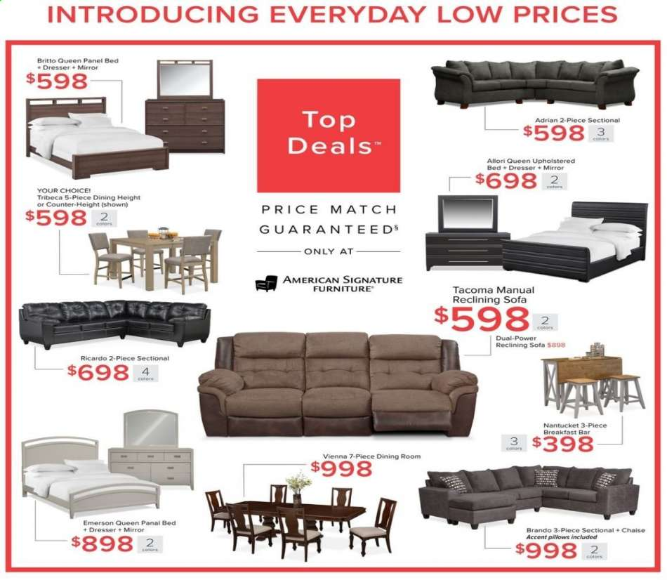 Marvelous American Signature Furniture Flyer 10 22 2019 11 11 2019 Ncnpc Chair Design For Home Ncnpcorg