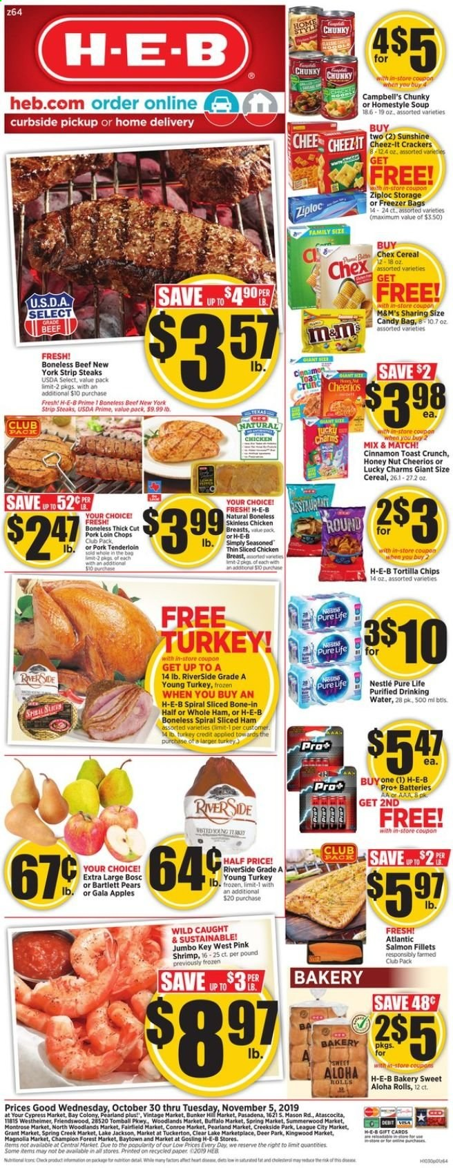 H-E-B Flyer  - 10.30.2019 - 11.05.2019. Page 1.