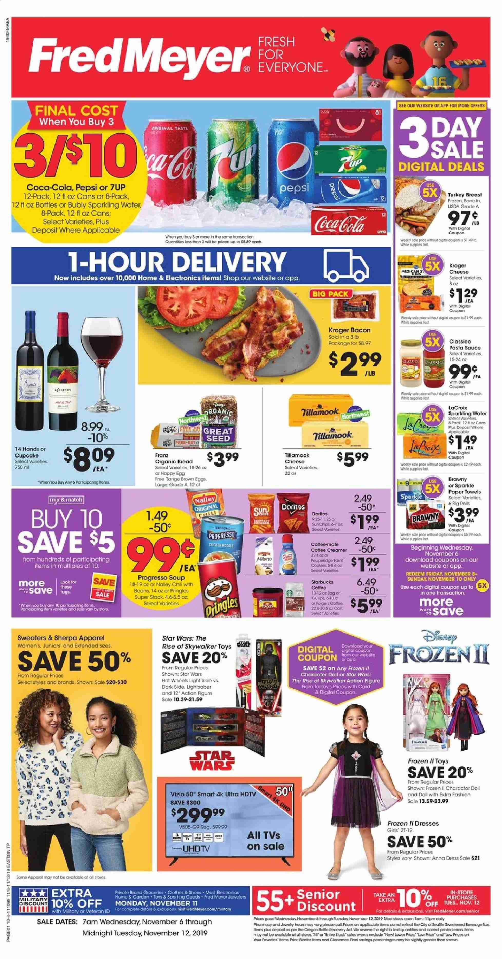 Fred Meyer Flyer  - 11.06.2019 - 11.12.2019. Page 1.