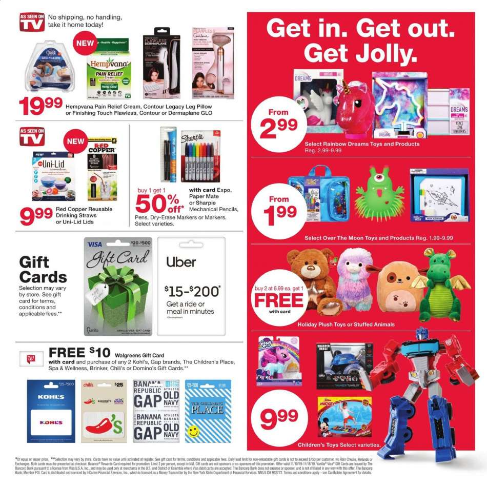 walgreens gift card selection