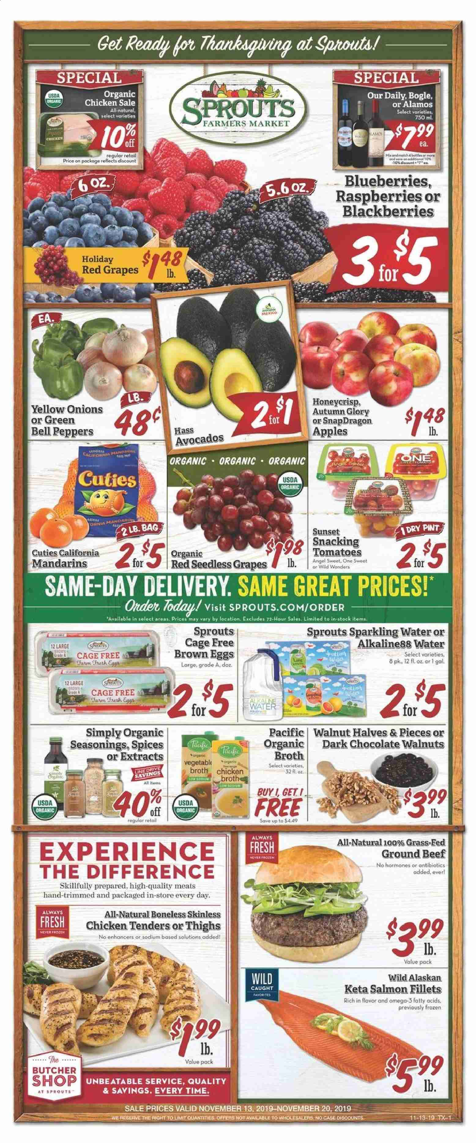 Sprouts Flyer  - 11.13.2019 - 11.20.2019. Page 1.
