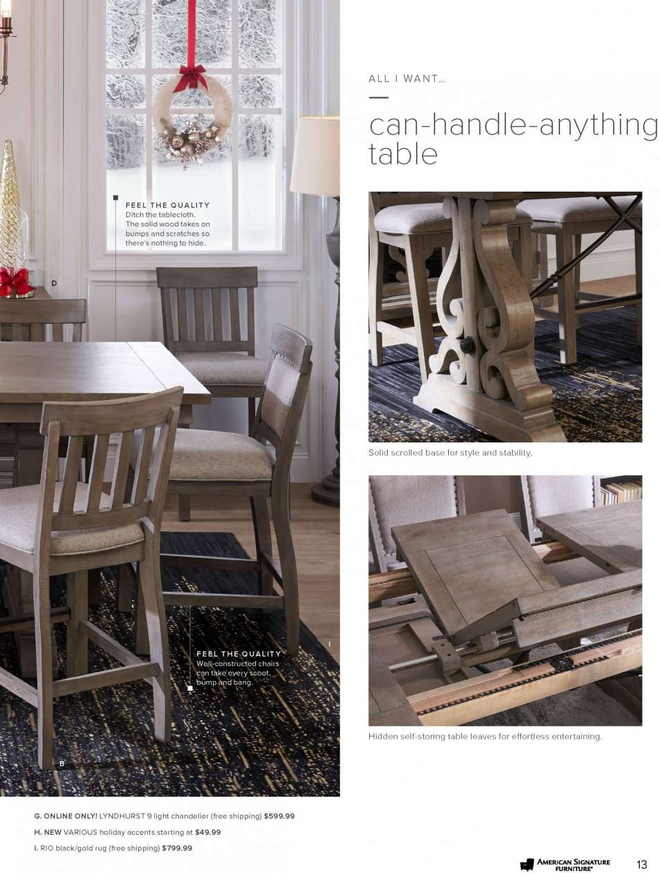 American Signature Furniture Dining Chairs