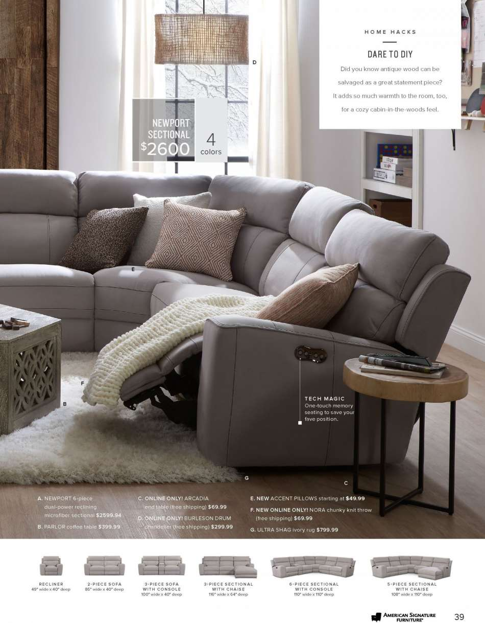 Strange American Signature Furniture Flyer Weekly Ads Us Ncnpc Chair Design For Home Ncnpcorg