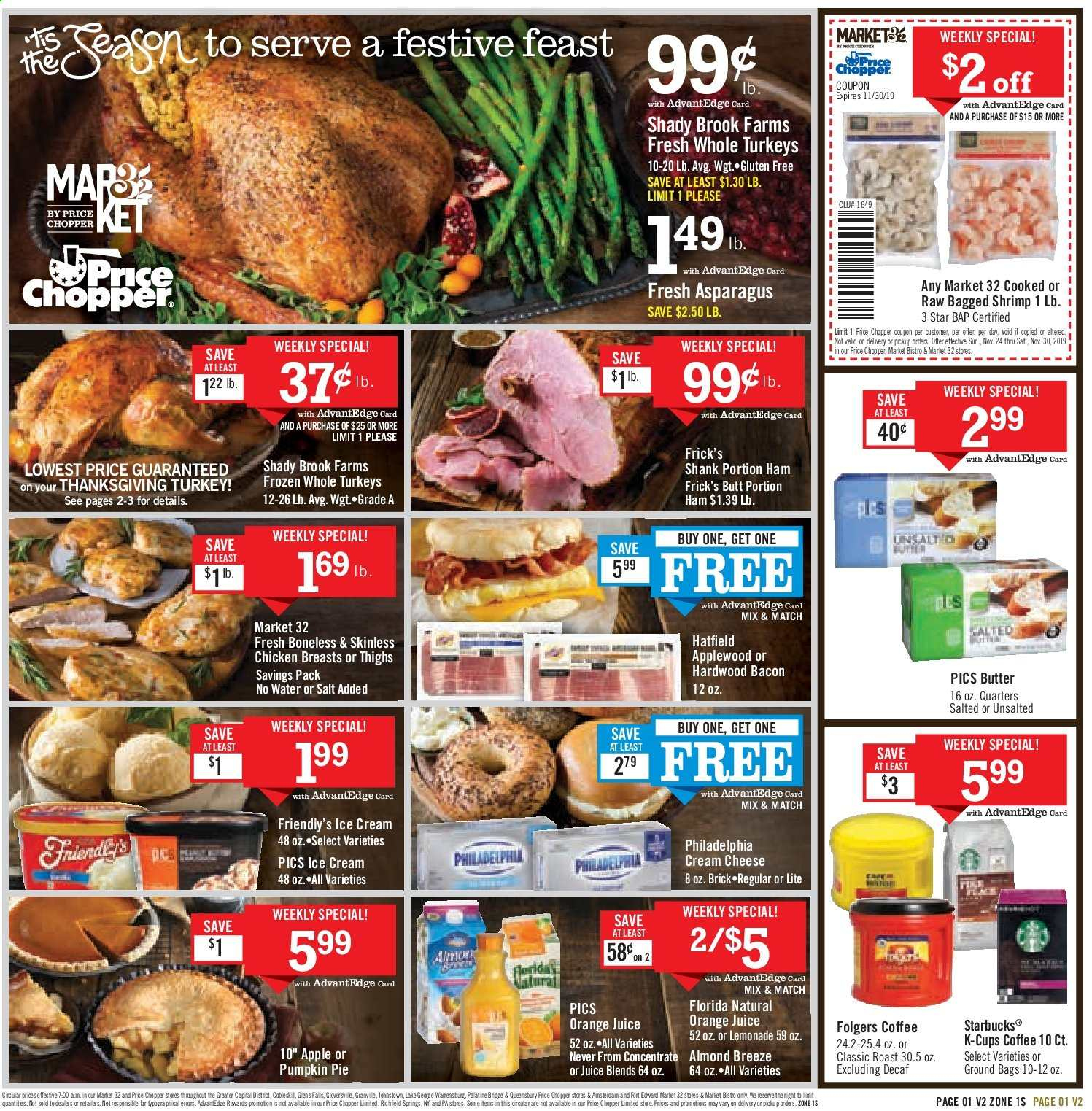Price Chopper Flyer  - 11.24.2019 - 11.30.2019. Page 1.