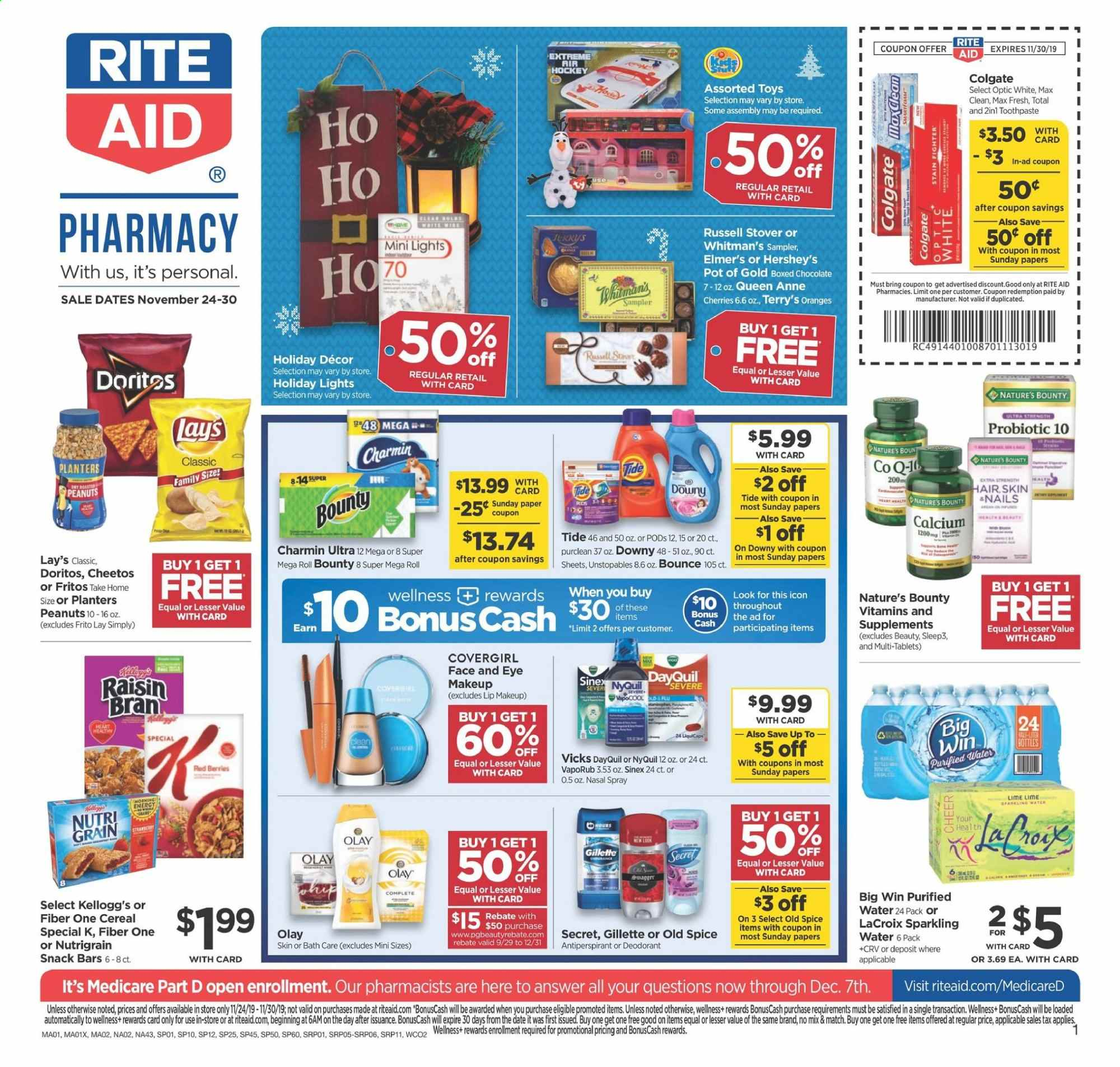 RITE AID Flyer  - 11.24.2019 - 11.30.2019. Page 1.