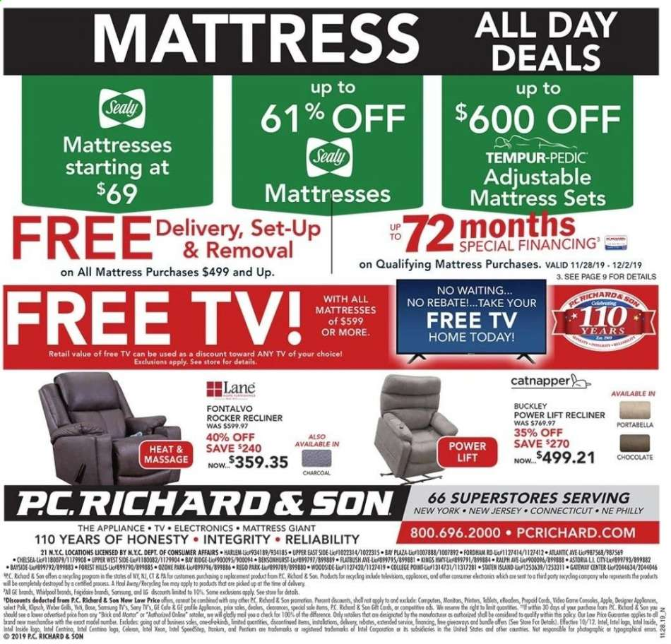 Terrific P C Richard Son Flyer 11 29 2019 11 29 2019 Weekly Ads Us Gamerscity Chair Design For Home Gamerscityorg