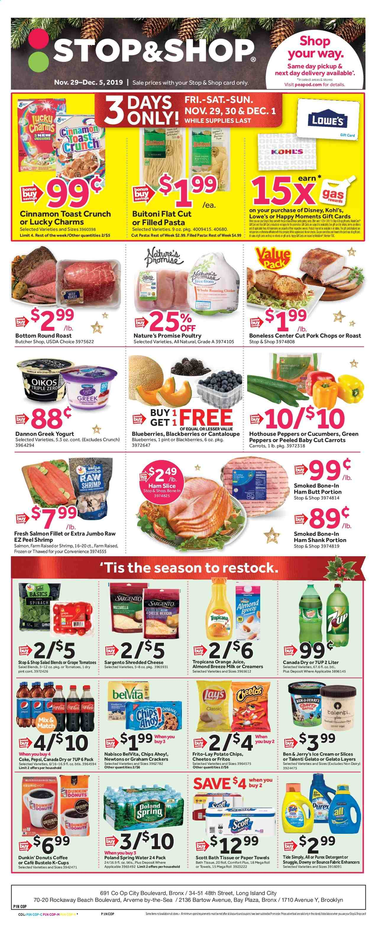 Stop & Shop Flyer  - 11.29.2019 - 12.05.2019. Page 1.