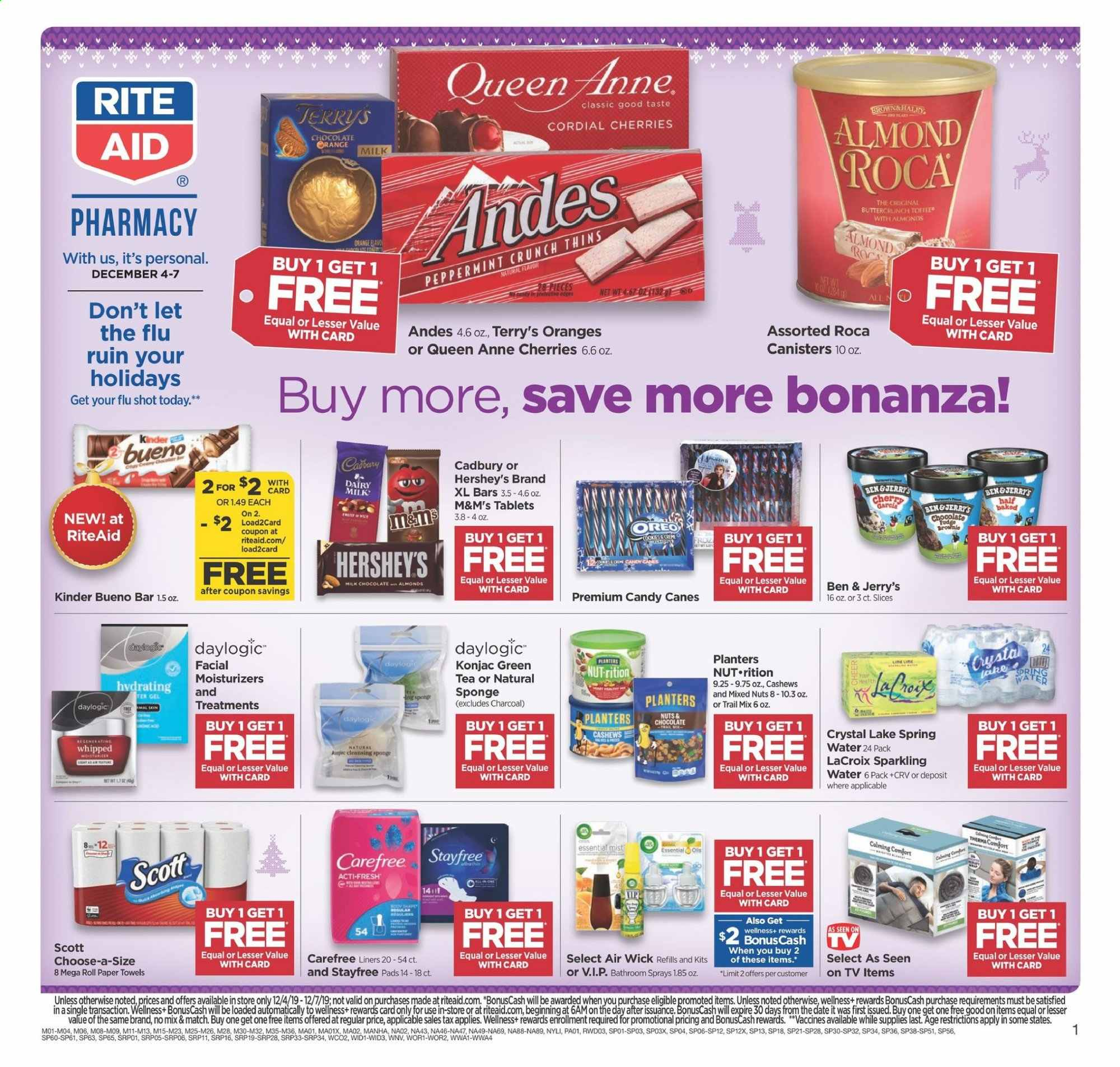 RITE AID Flyer  - 12.04.2019 - 12.07.2019. Page 1.