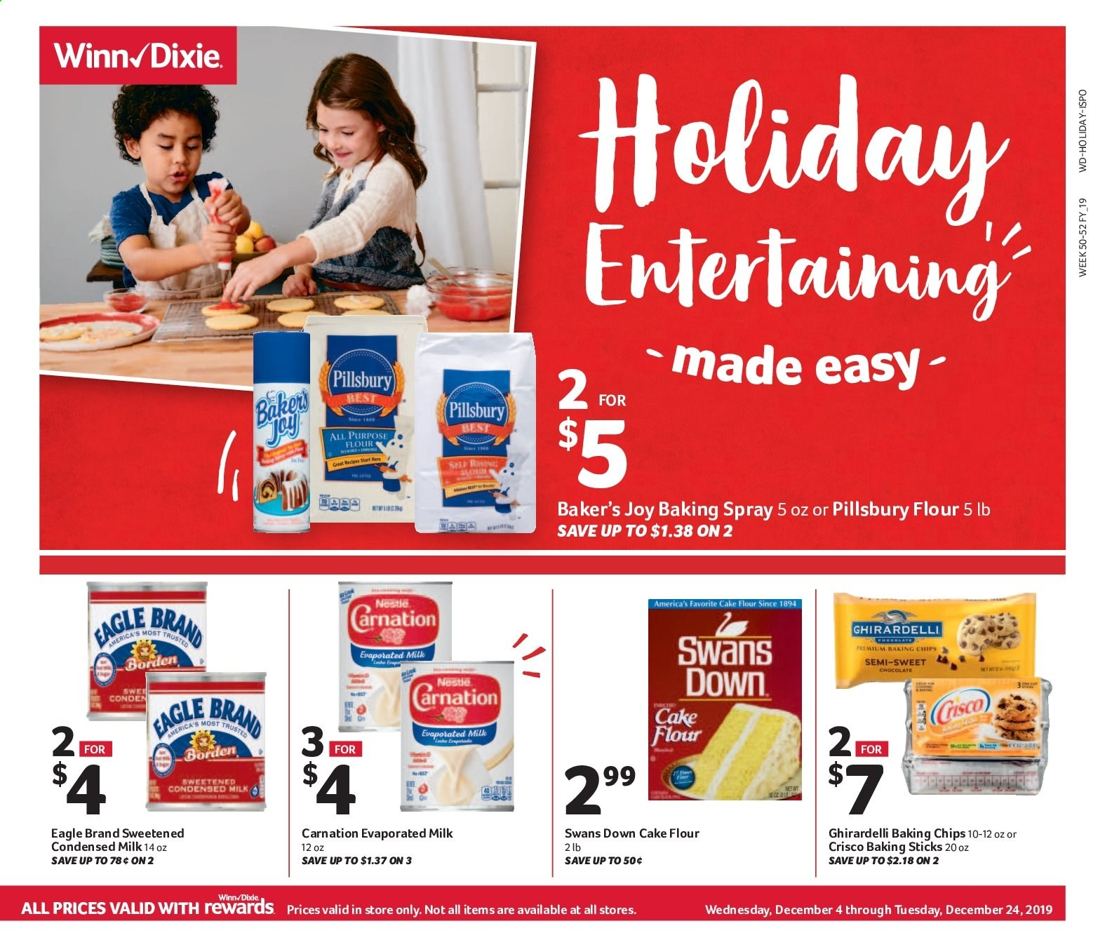 Winn Dixie Flyer  - 12.04.2019 - 12.24.2019. Page 1.