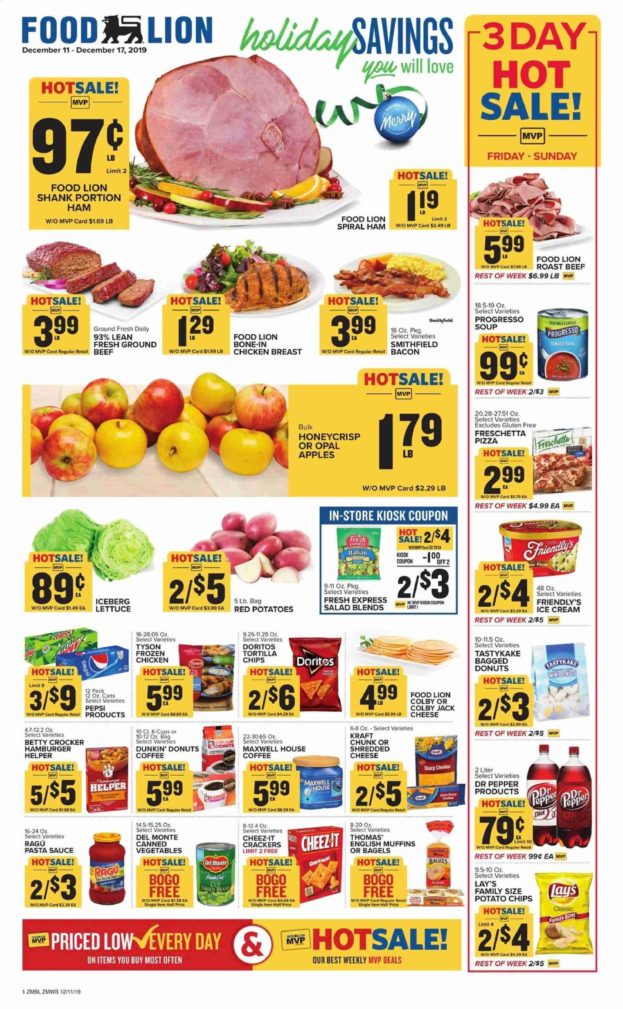 Food Lion Flyer  - 12.11.2019 - 12.17.2019. Page 1.