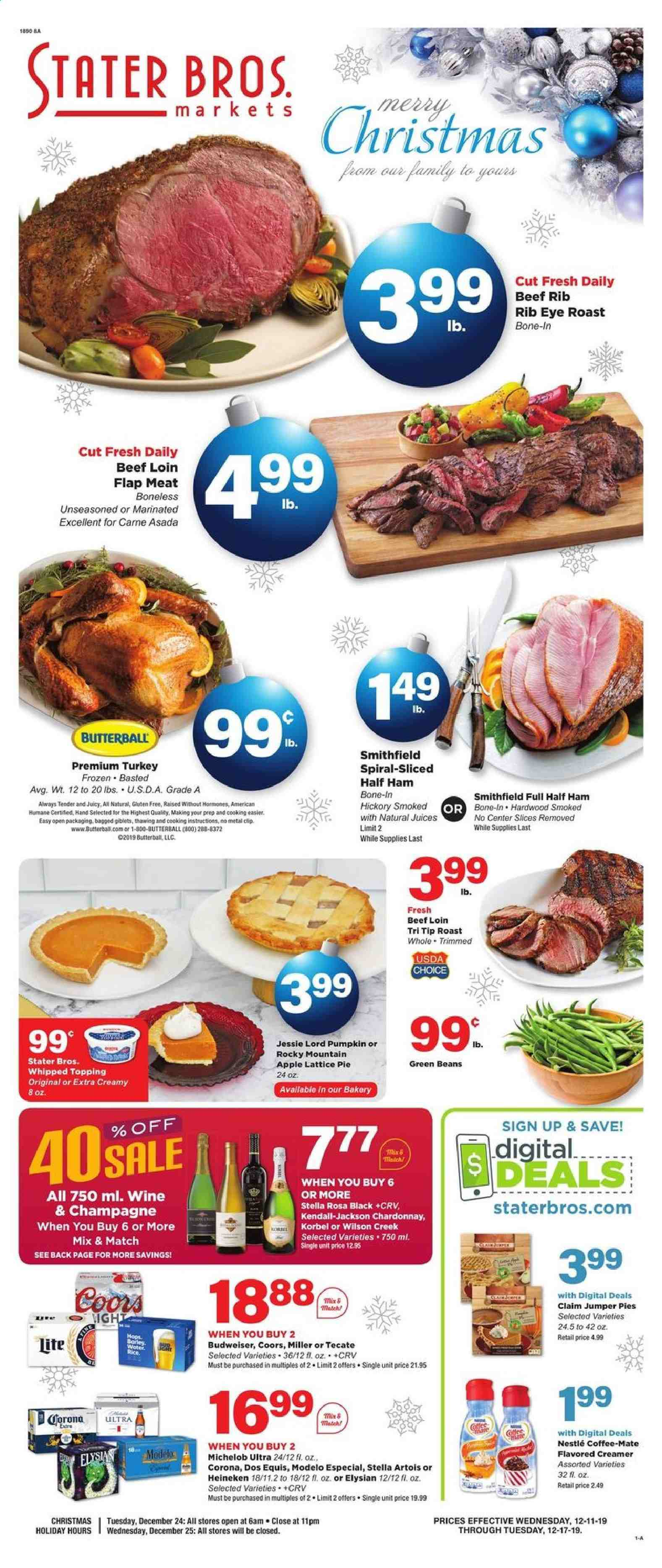 Stater Bros. Flyer  - 12.11.2019 - 12.17.2019. Page 1.