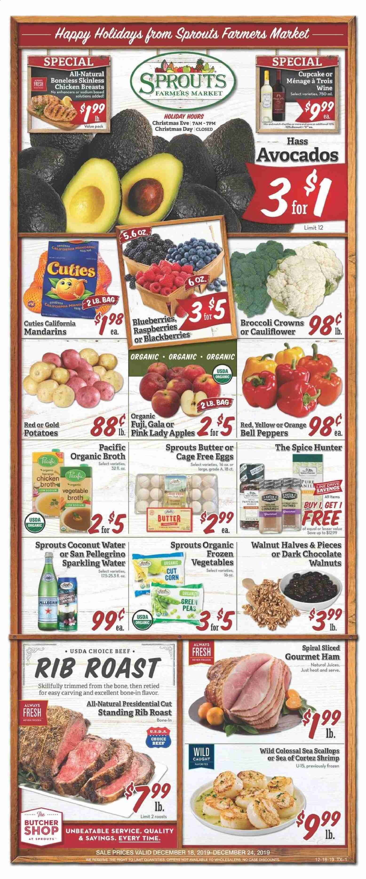 Sprouts Flyer  - 12.18.2019 - 12.24.2019. Page 1.