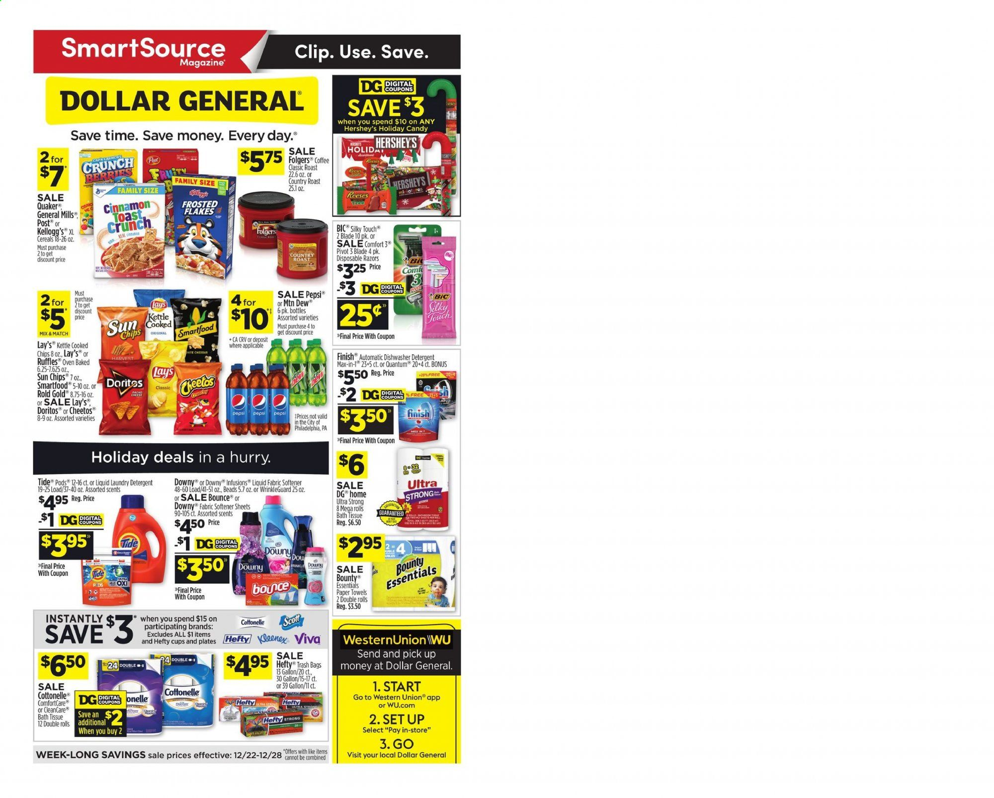Dollar General Flyer  - 12.22.2019 - 12.28.2019. Page 1.
