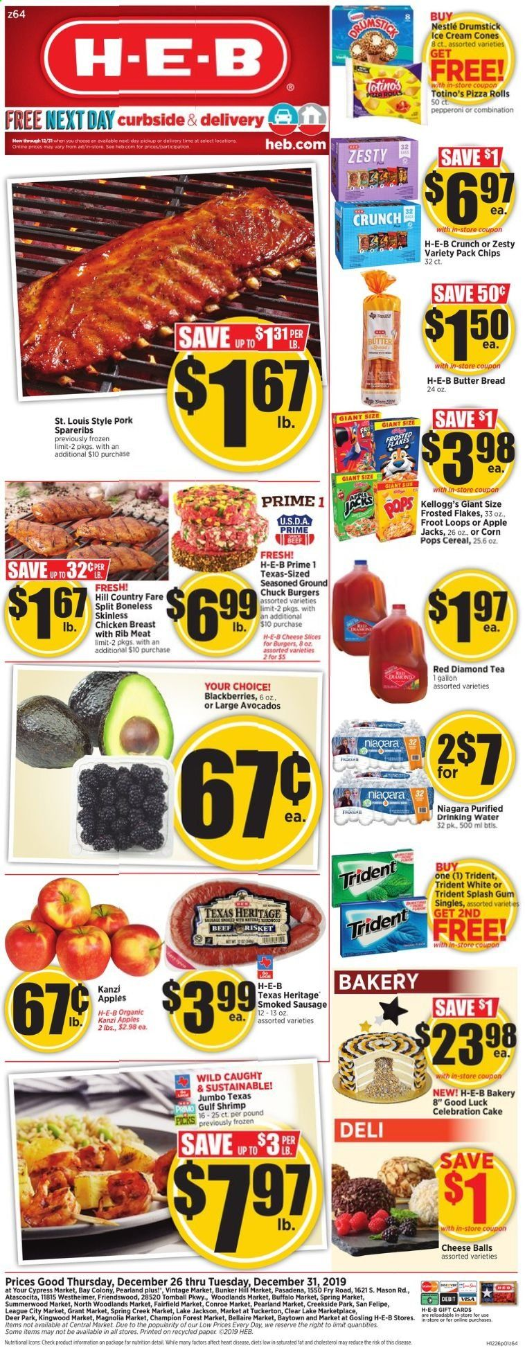H-E-B Flyer  - 12.26.2019 - 12.31.2019. Page 1.