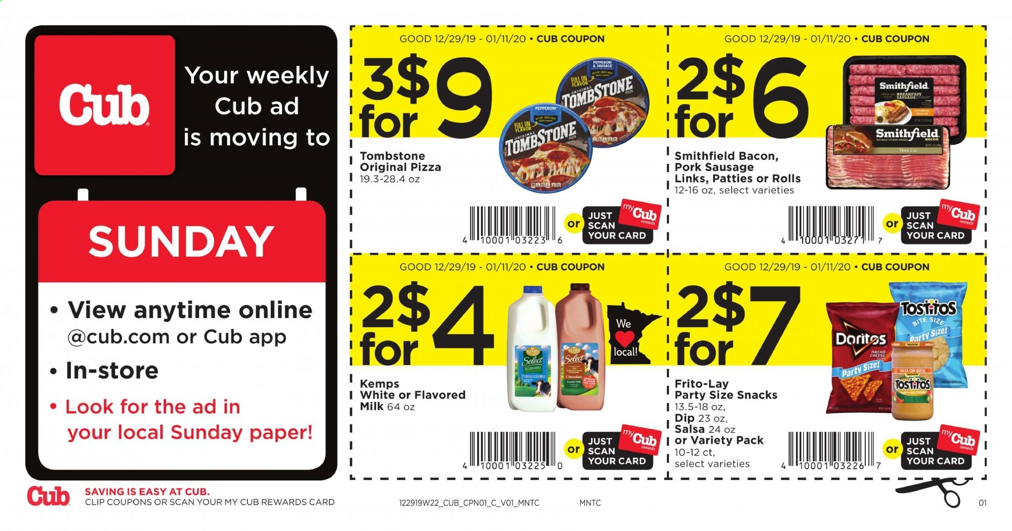 Cub Foods Flyer  - 12.29.2019 - 01.11.2020. Page 1.