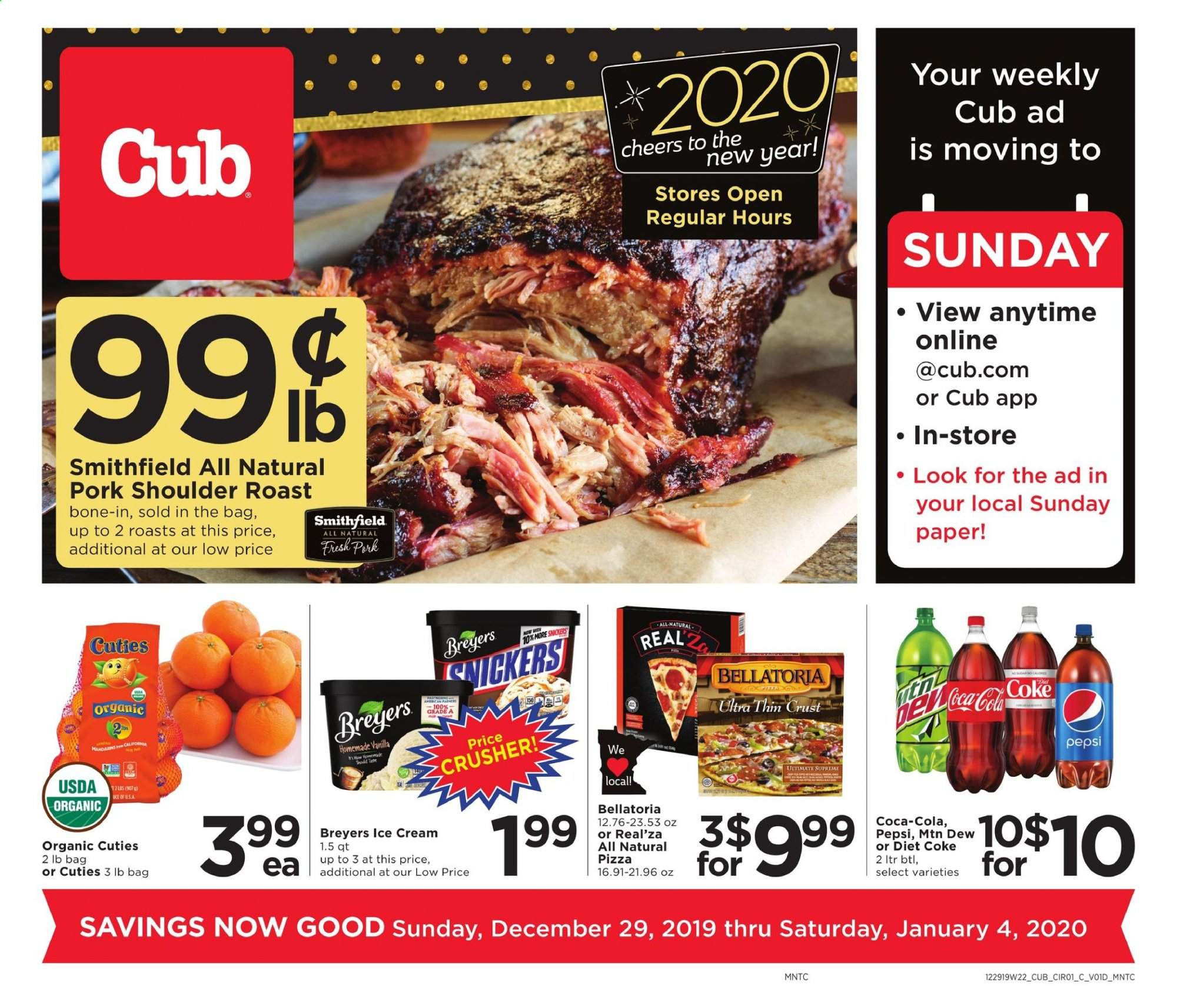 Cub Foods Flyer  - 12.29.2019 - 01.04.2020. Page 1.