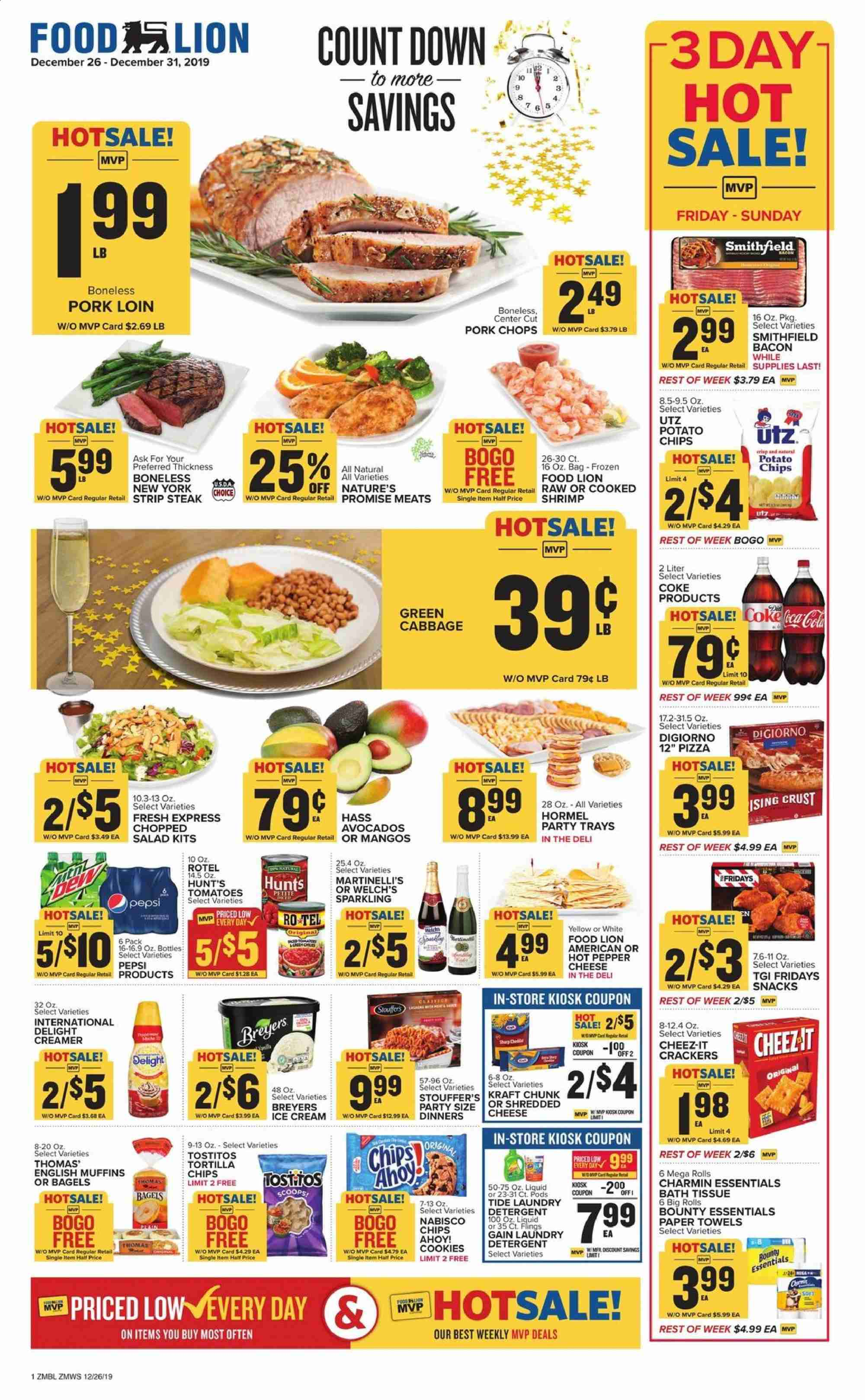 Food Lion Flyer  - 12.26.2019 - 12.31.2019. Page 1.