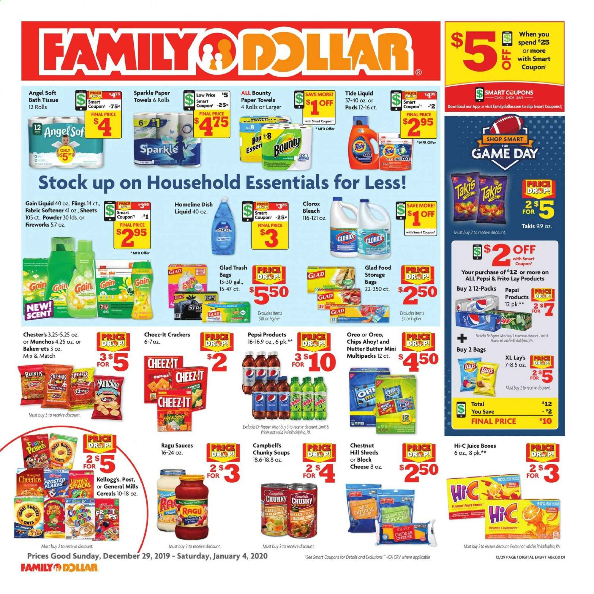Family Dollar Flyer  - 12.29.2019 - 01.04.2020. Page 1.