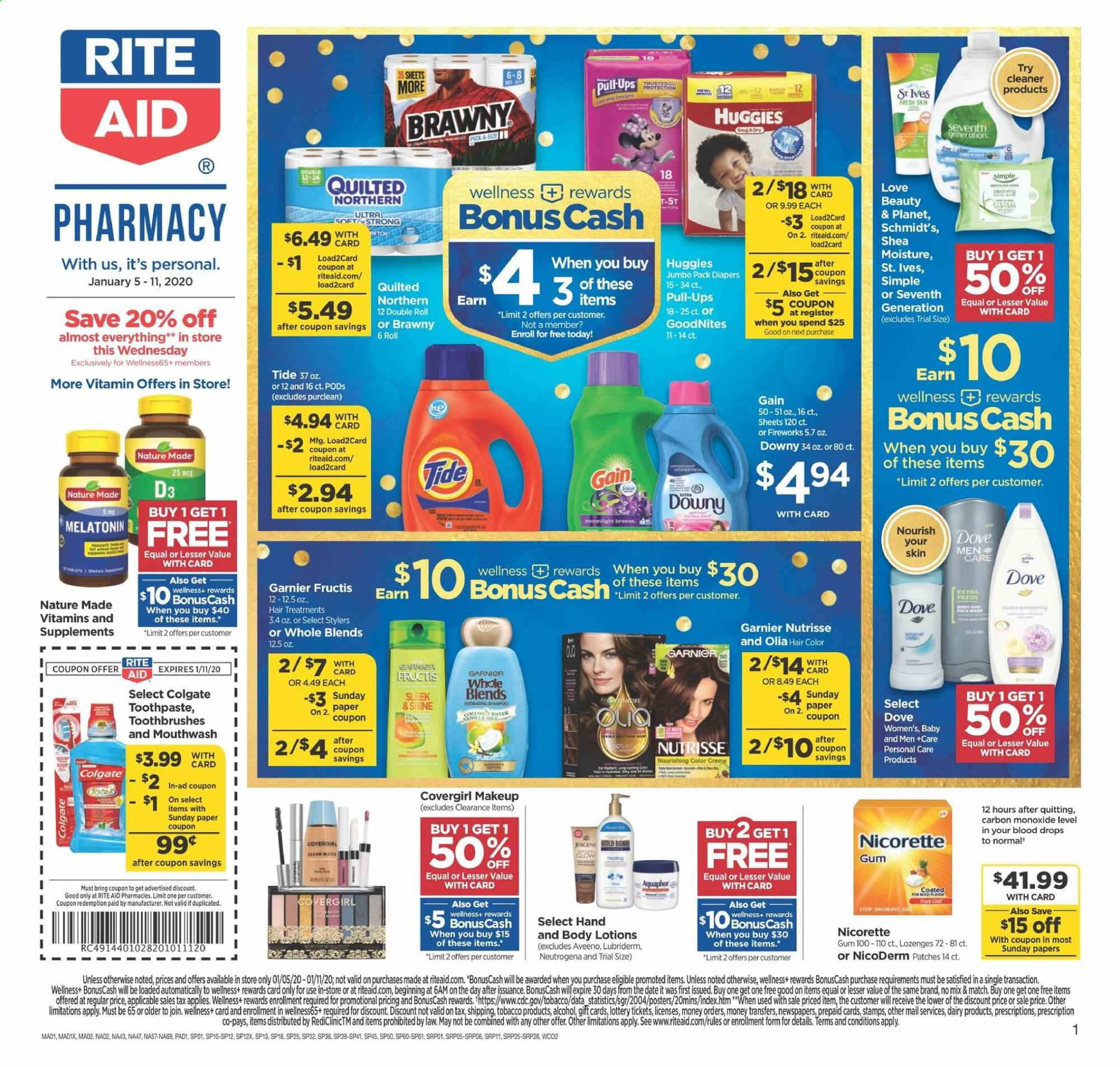 RITE AID Flyer  - 01.05.2020 - 01.11.2020. Page 1.