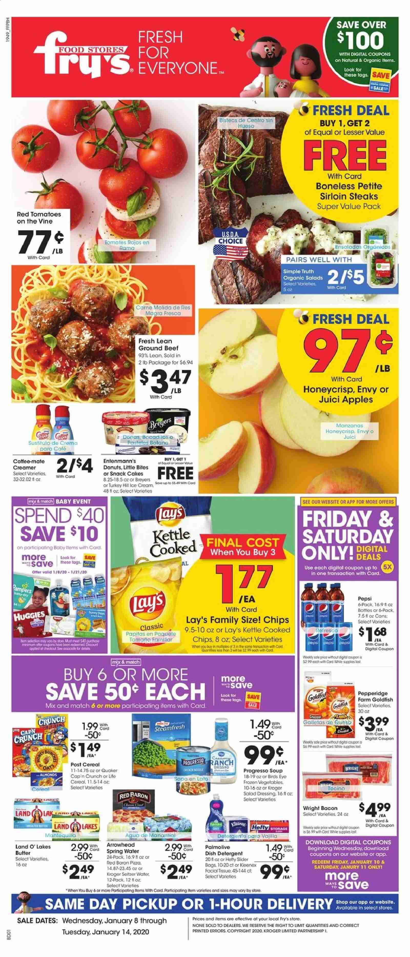 Fry's Flyer  - 01.08.2020 - 01.14.2020. Page 1.