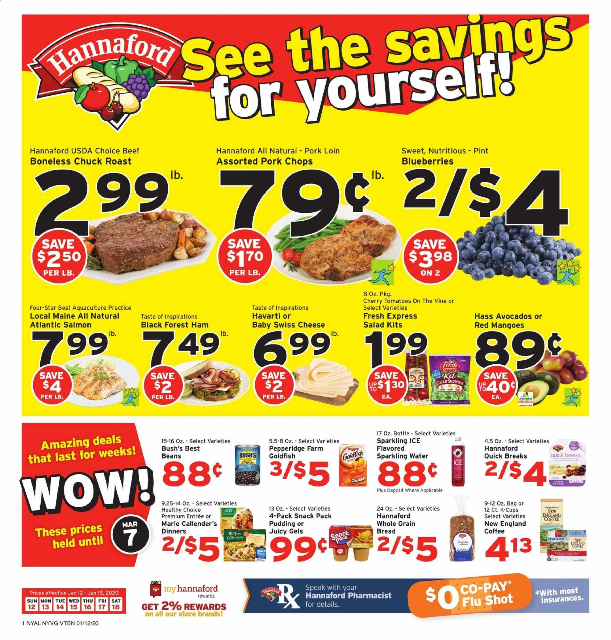 Hannaford Flyer  - 01.12.2020 - 01.18.2020. Page 1.