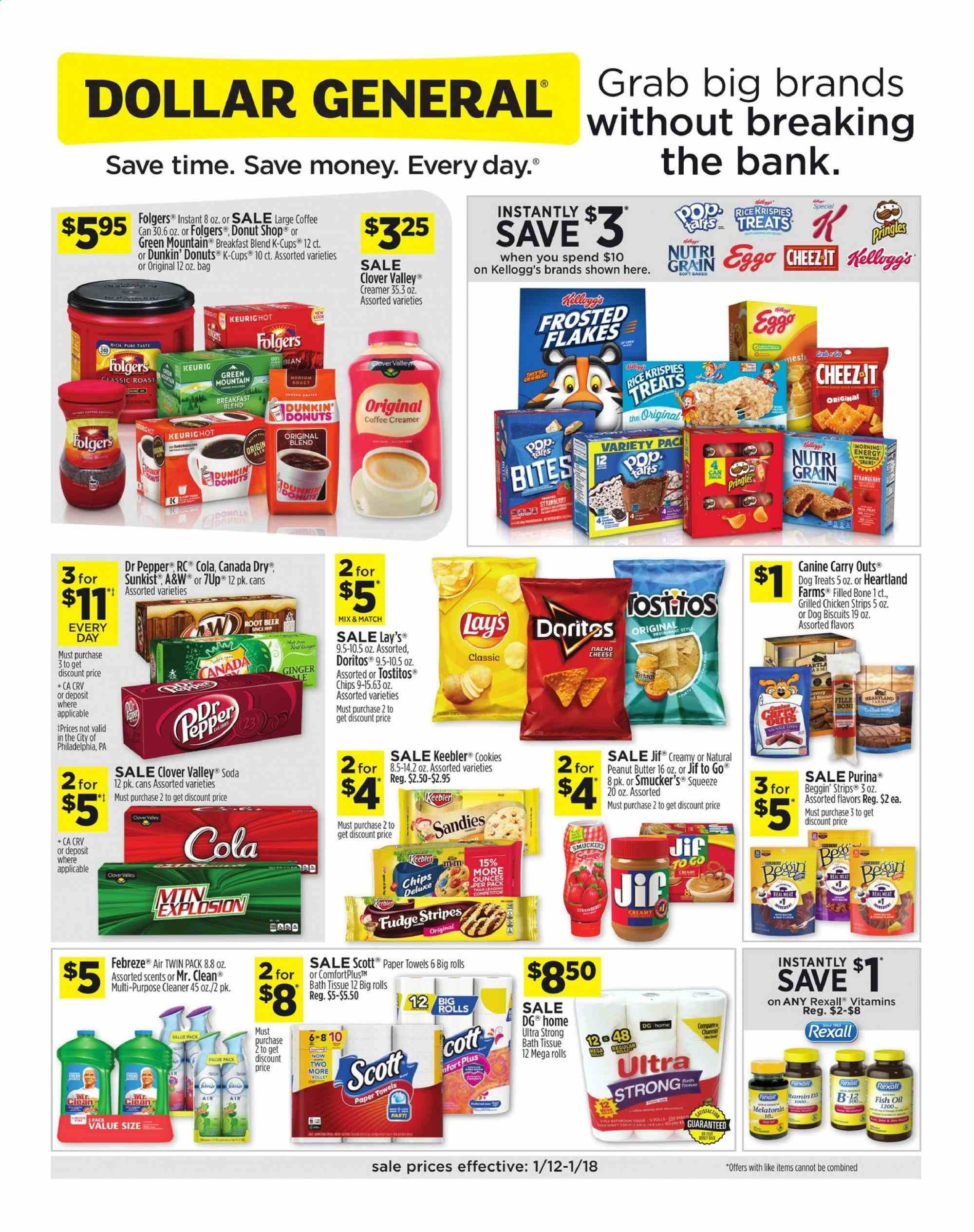 Dollar General Flyer  - 01.12.2020 - 01.18.2020. Page 1.