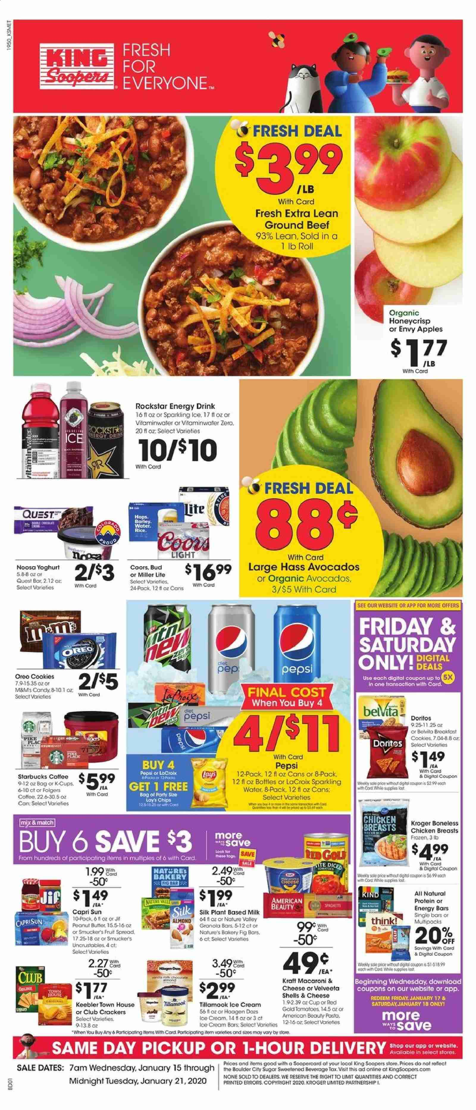 King Soopers Flyer  - 01.15.2020 - 01.21.2020. Page 1.