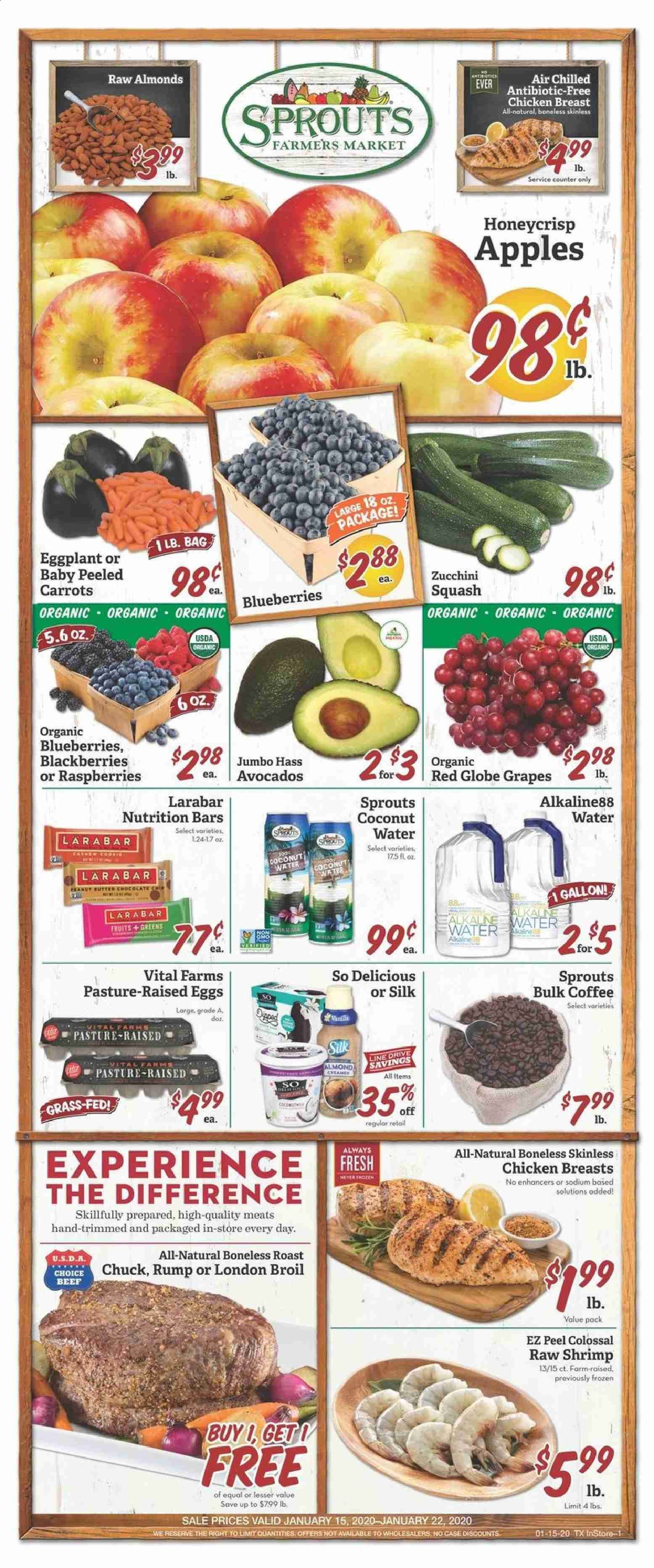Sprouts Flyer  - 01.15.2020 - 01.22.2020. Page 1.