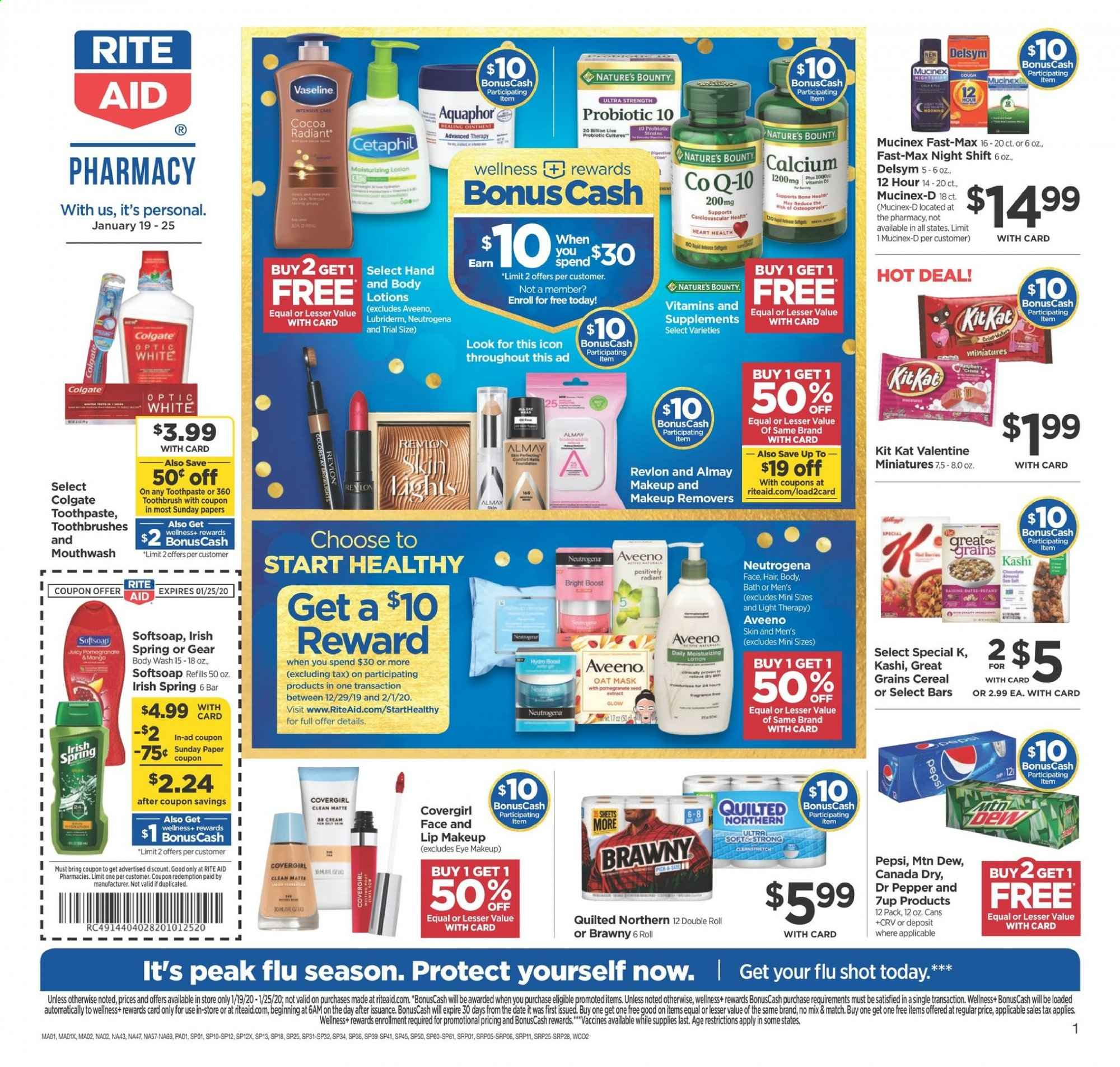 RITE AID Flyer  - 01.19.2020 - 01.25.2020. Page 1.
