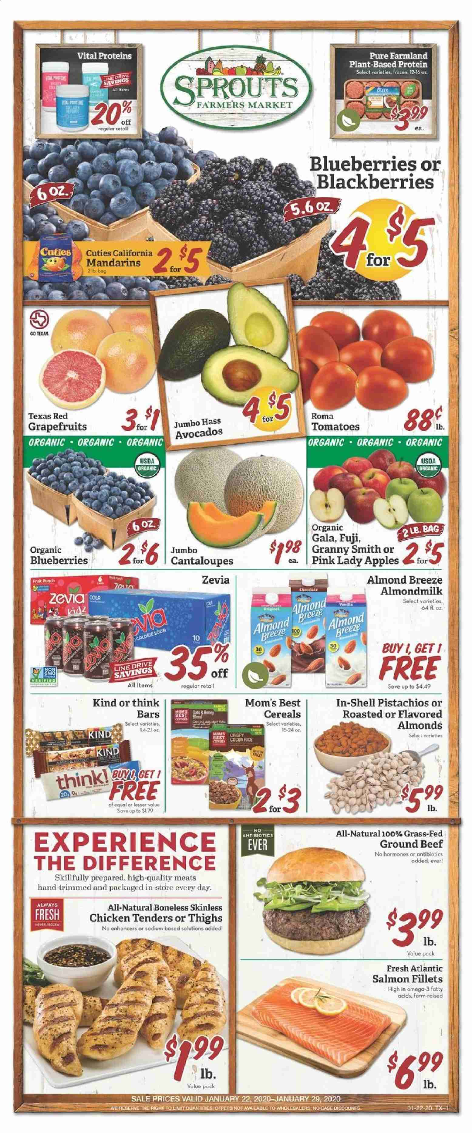 Sprouts Flyer  - 01.22.2020 - 01.29.2020. Page 1.