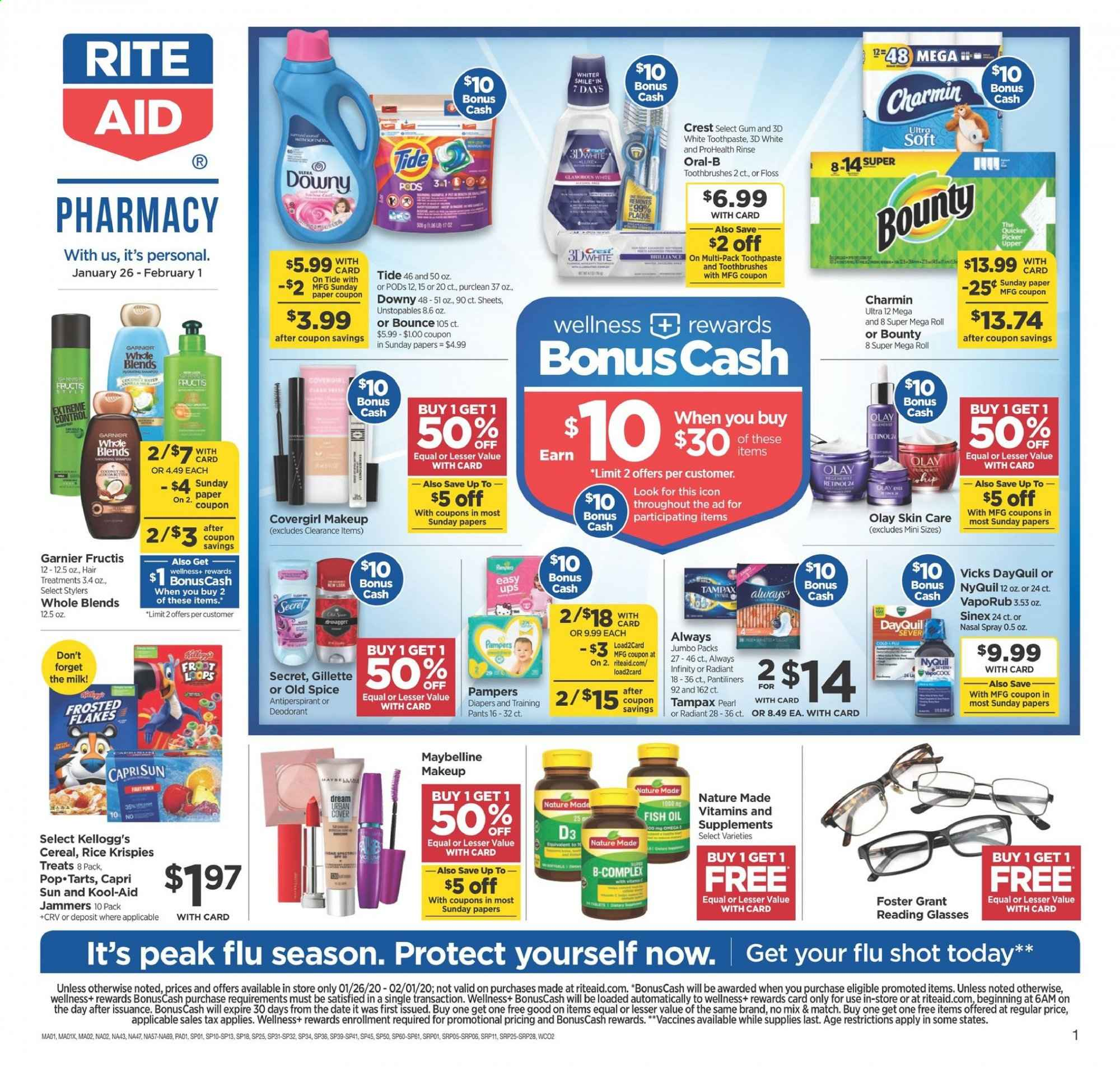 RITE AID Flyer  - 01.26.2020 - 02.01.2020. Page 1.