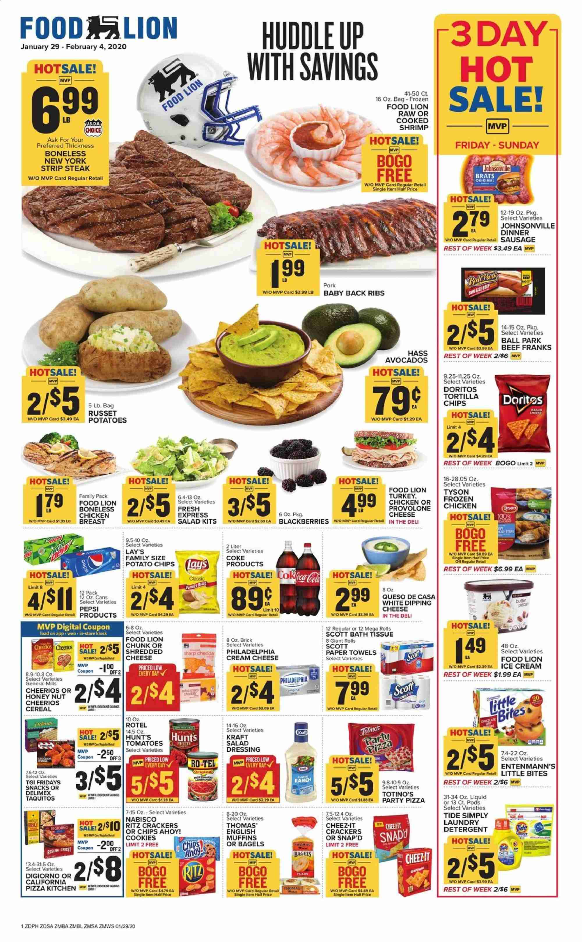 Food Lion Flyer  - 01.29.2020 - 02.04.2020. Page 1.