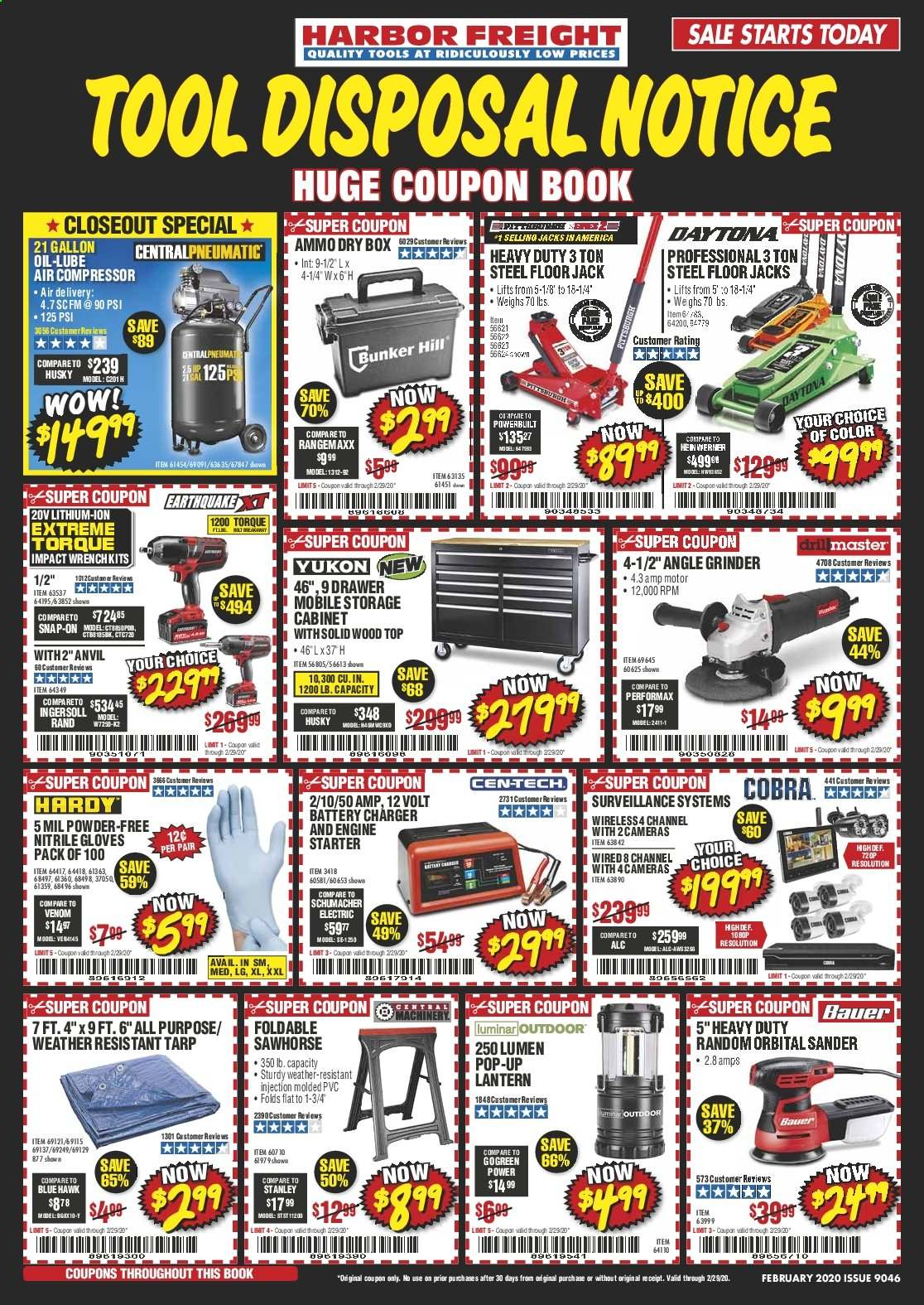 Harbor Freight Flyer  - 02.01.2020 - 02.29.2020. Page 1.