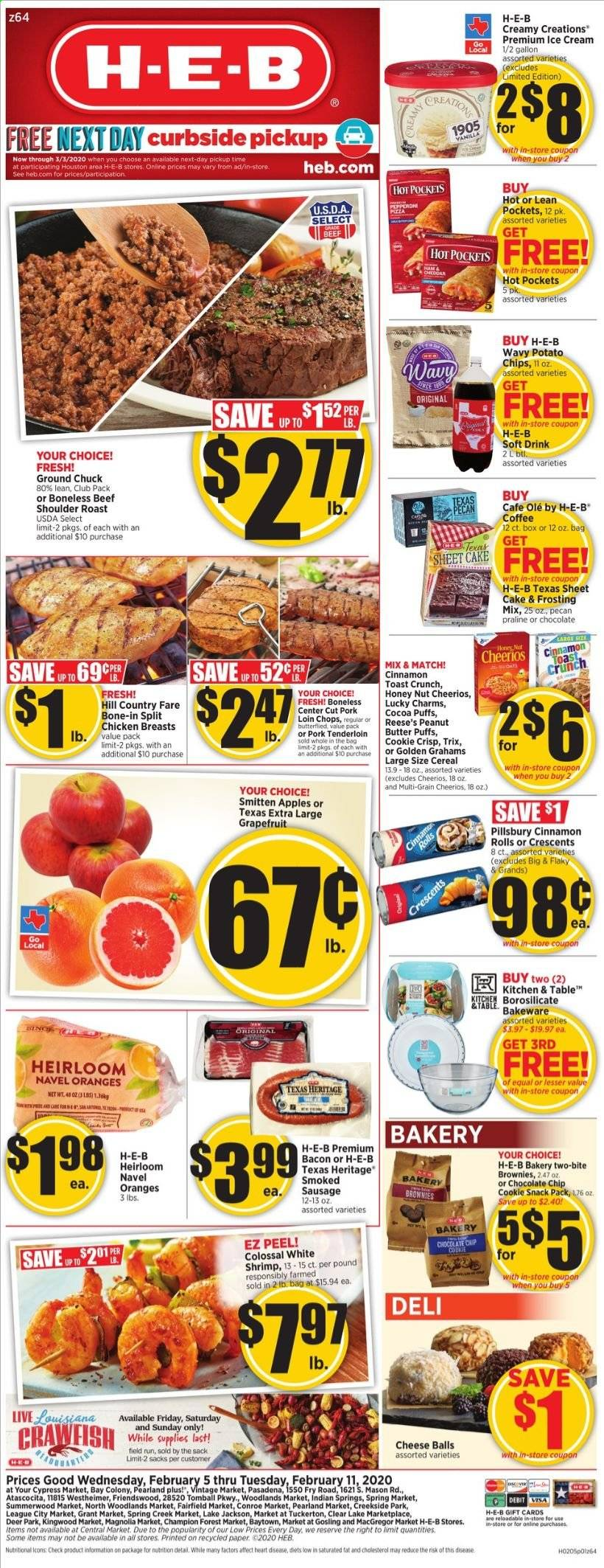 H-E-B Flyer  - 02.05.2020 - 02.11.2020. Page 1.
