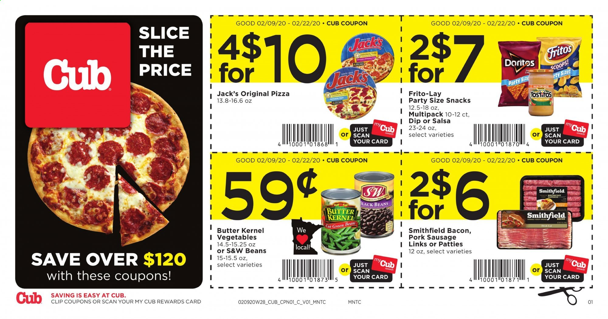 Cub Foods Flyer  - 02.09.2020 - 02.22.2020. Page 1.