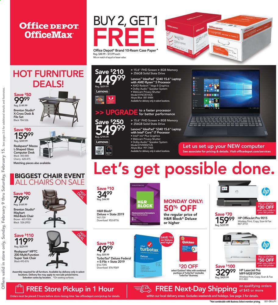 Office DEPOT Flyer  - 02.09.2020 - 02.15.2020. Page 1.