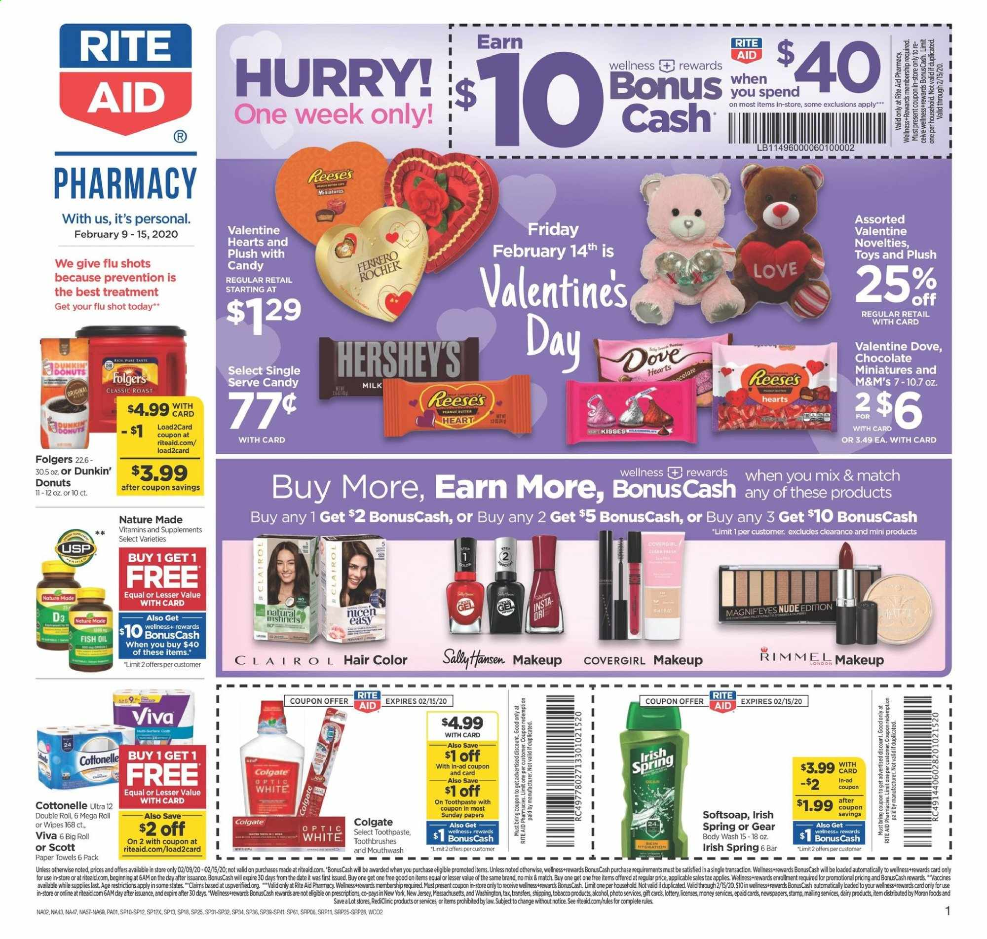 RITE AID Flyer  - 02.09.2020 - 02.15.2020. Page 1.