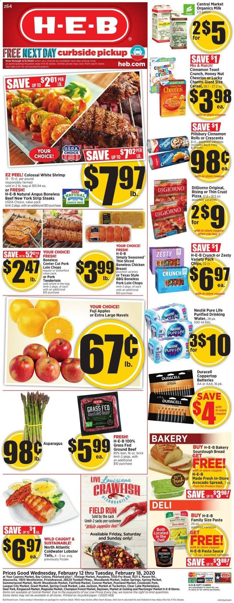 H-E-B Flyer  - 02.12.2020 - 02.18.2020. Page 1.