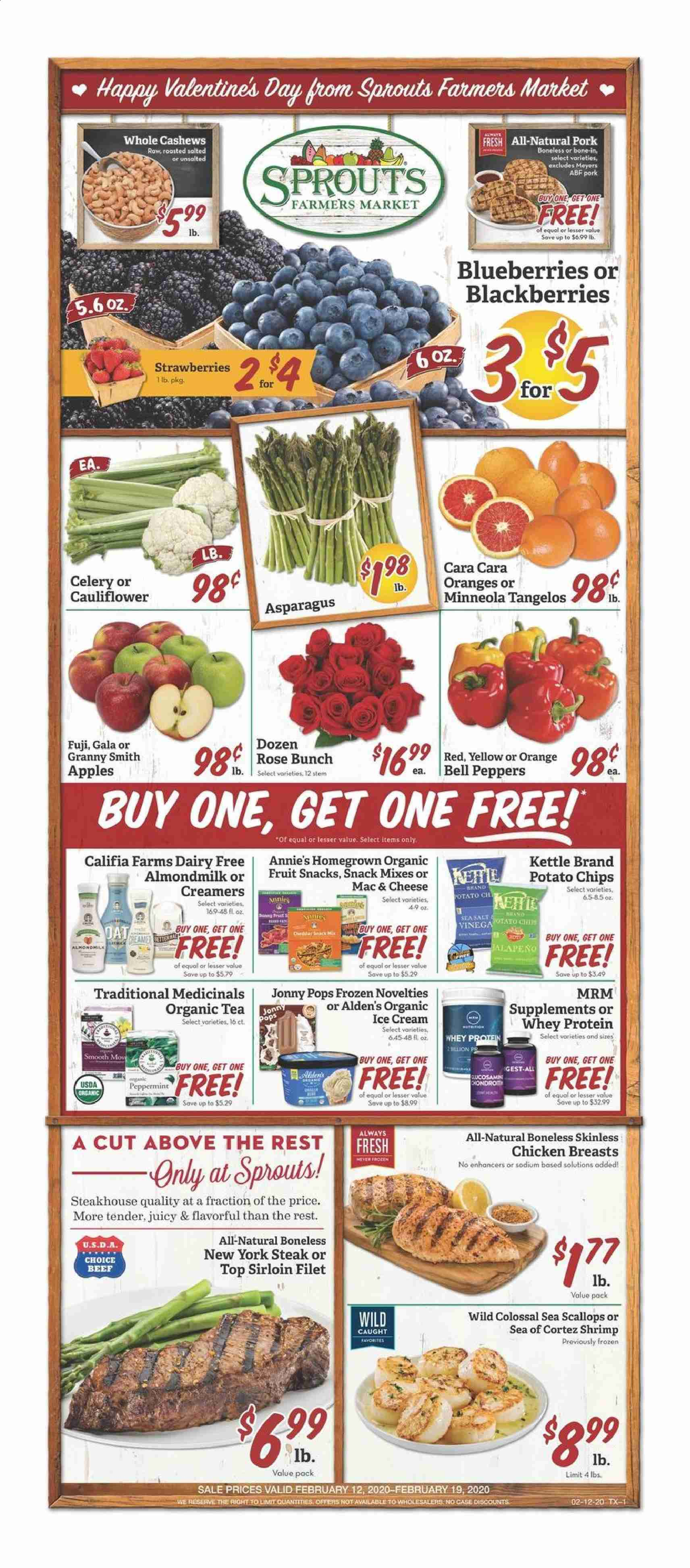 Sprouts Flyer  - 02.12.2020 - 02.19.2020. Page 1.