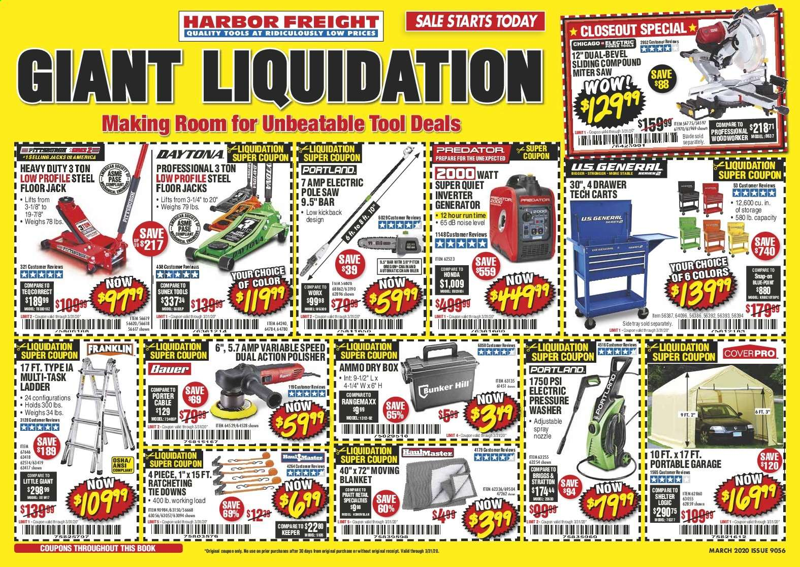 Harbor Freight Flyer  - 03.01.2020 - 03.31.2020. Page 1.