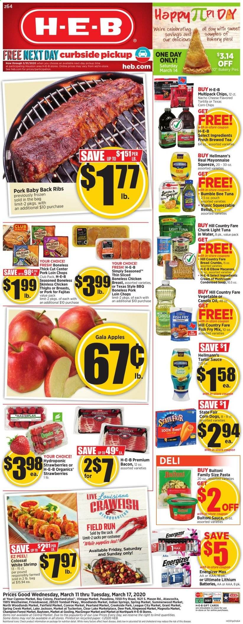 H-E-B Flyer  - 03.11.2020 - 03.17.2020. Page 1.