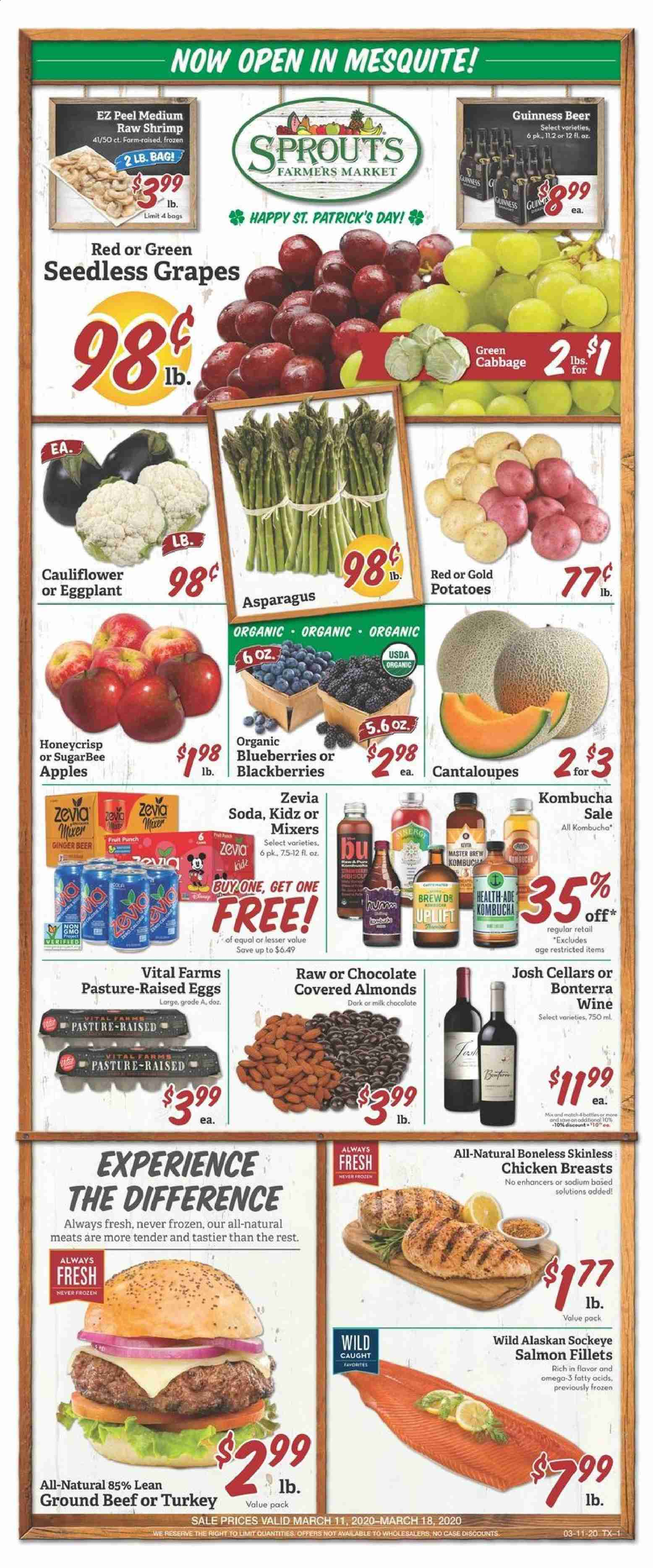 Sprouts Flyer  - 03.11.2020 - 03.18.2020. Page 1.