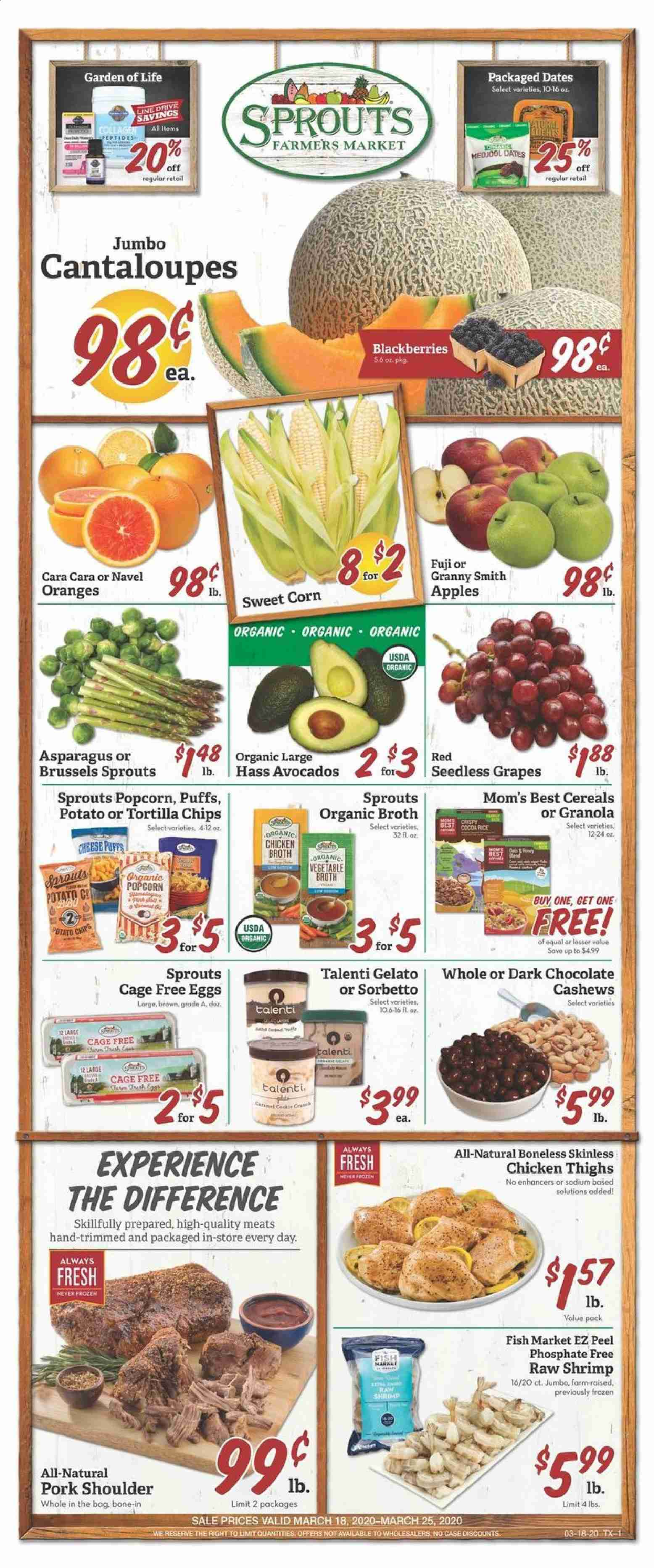 Sprouts Flyer  - 03.18.2020 - 03.25.2020. Page 1.