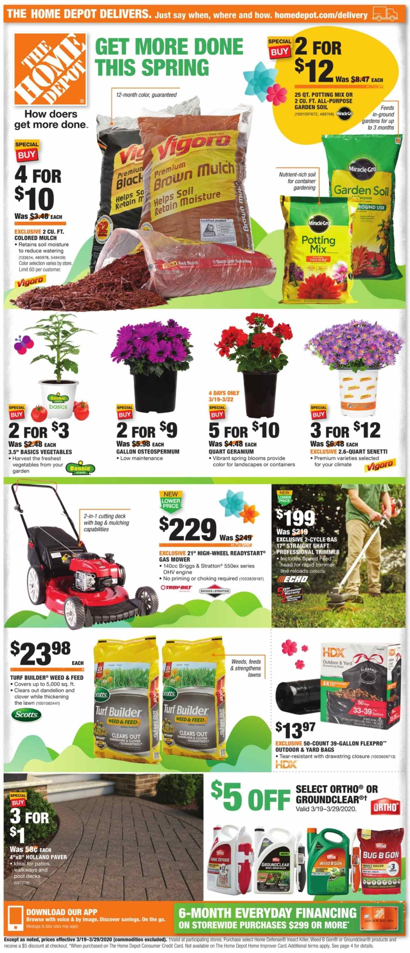 The Home Depot Flyer 03 19 2020 03 29 2020 Weekly Ads